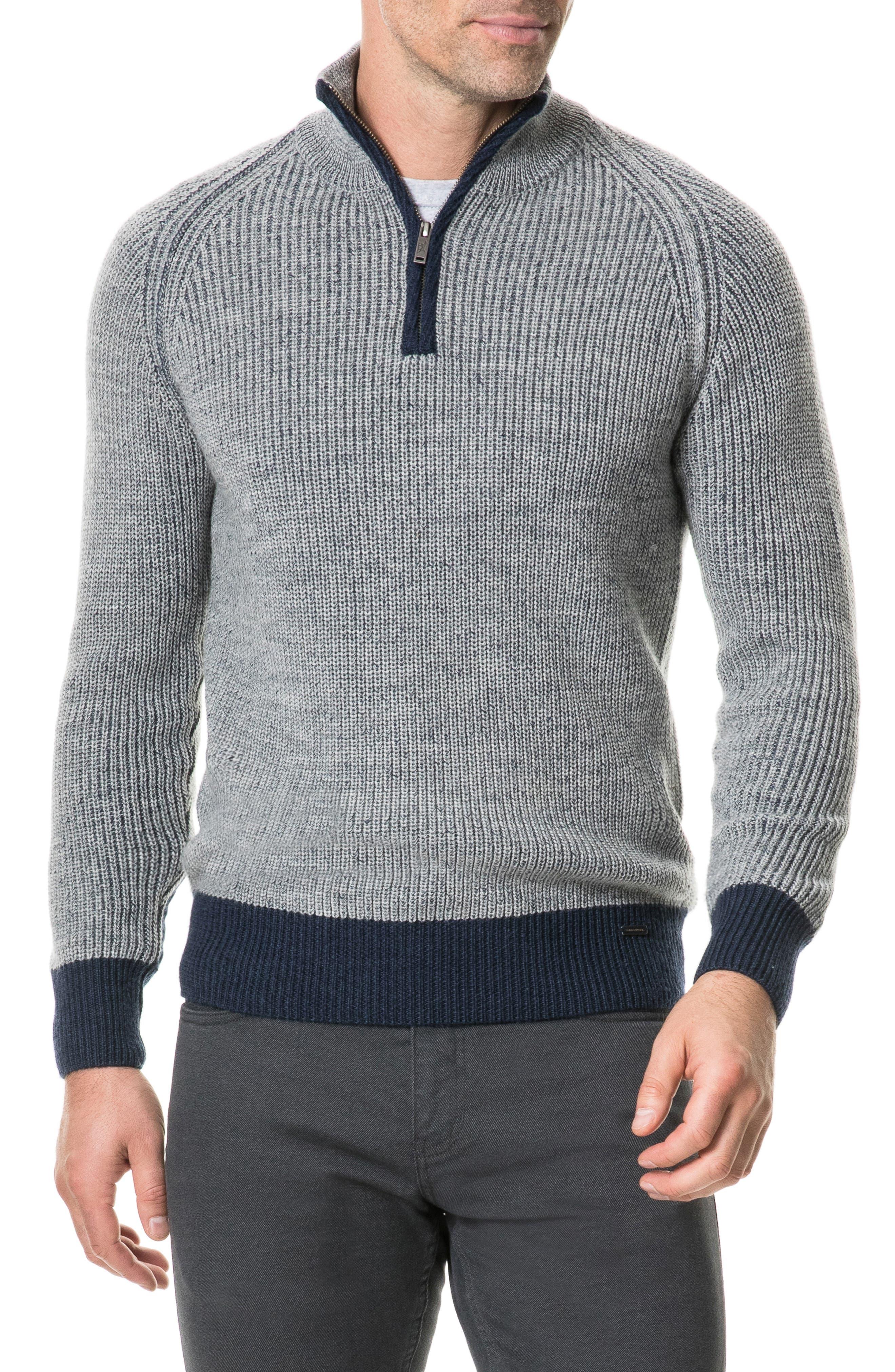 Mackinder Quarter Zip Merino Wool Sweater,                             Main thumbnail 1, color,                             268