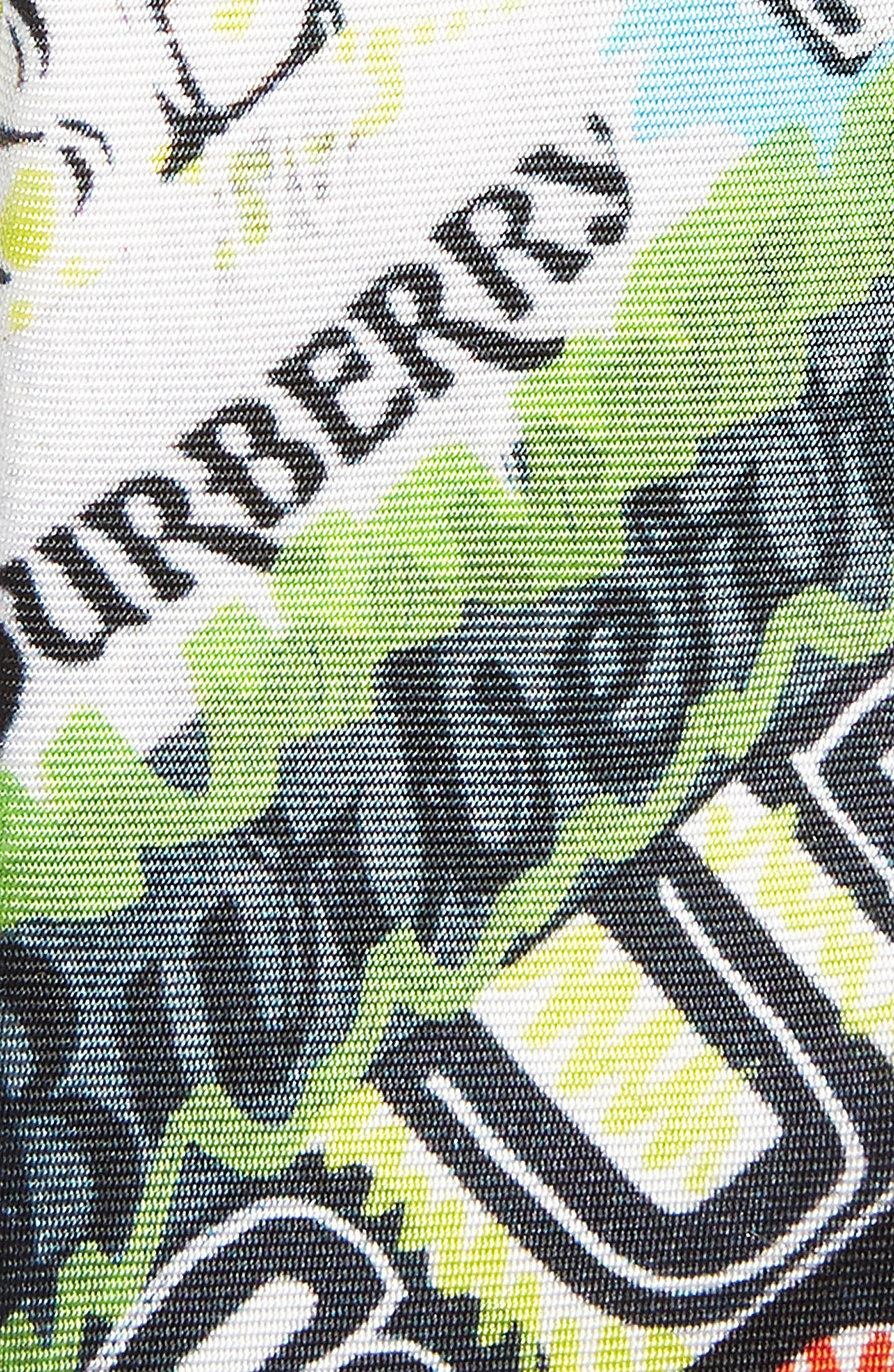 Stanfield Tag Print Silk Skinny Tie,                             Alternate thumbnail 2, color,                             MULTICOLOUR