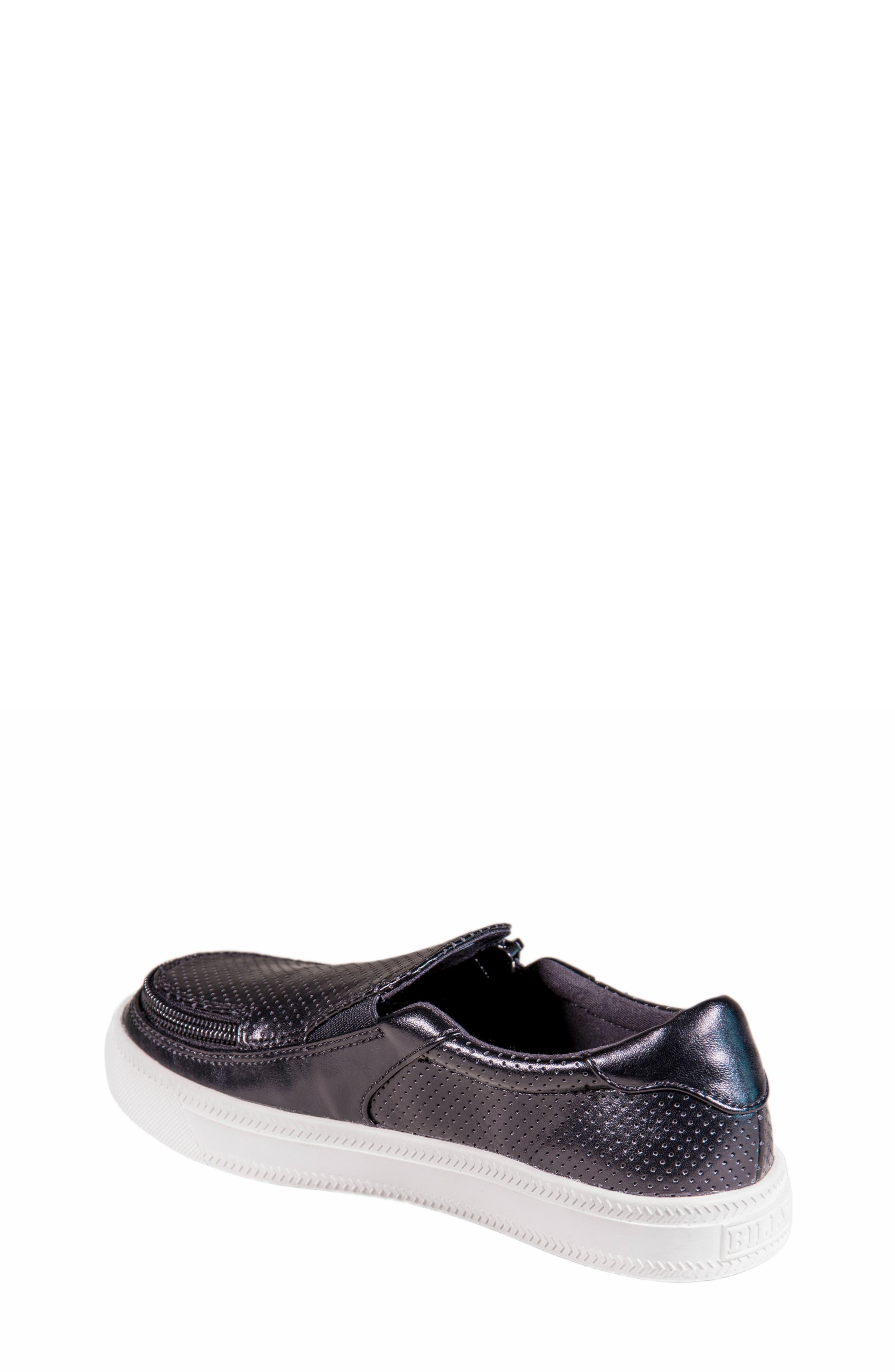 Zip Around Perforated Low Top Sneaker,                             Alternate thumbnail 3, color,