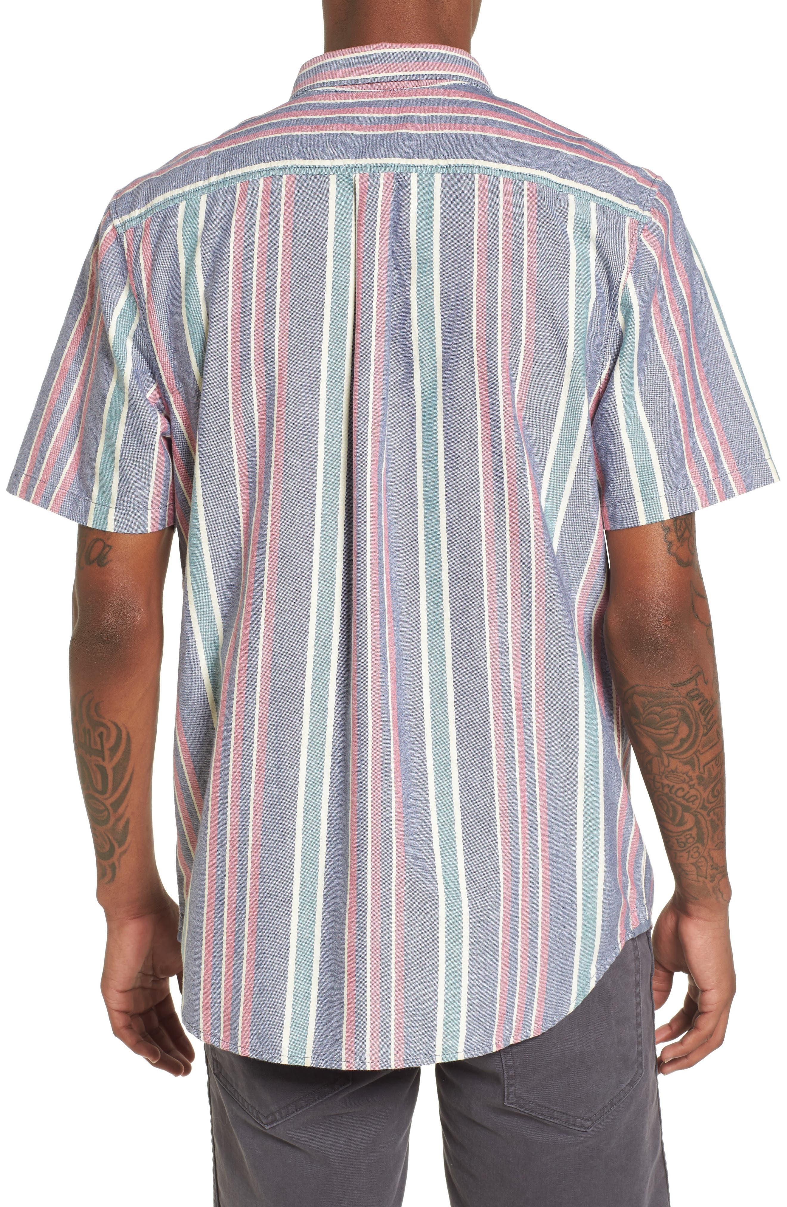 Houser Short Sleeve Shirt,                             Alternate thumbnail 2, color,                             DRESS BLUES/ EVERGREEN