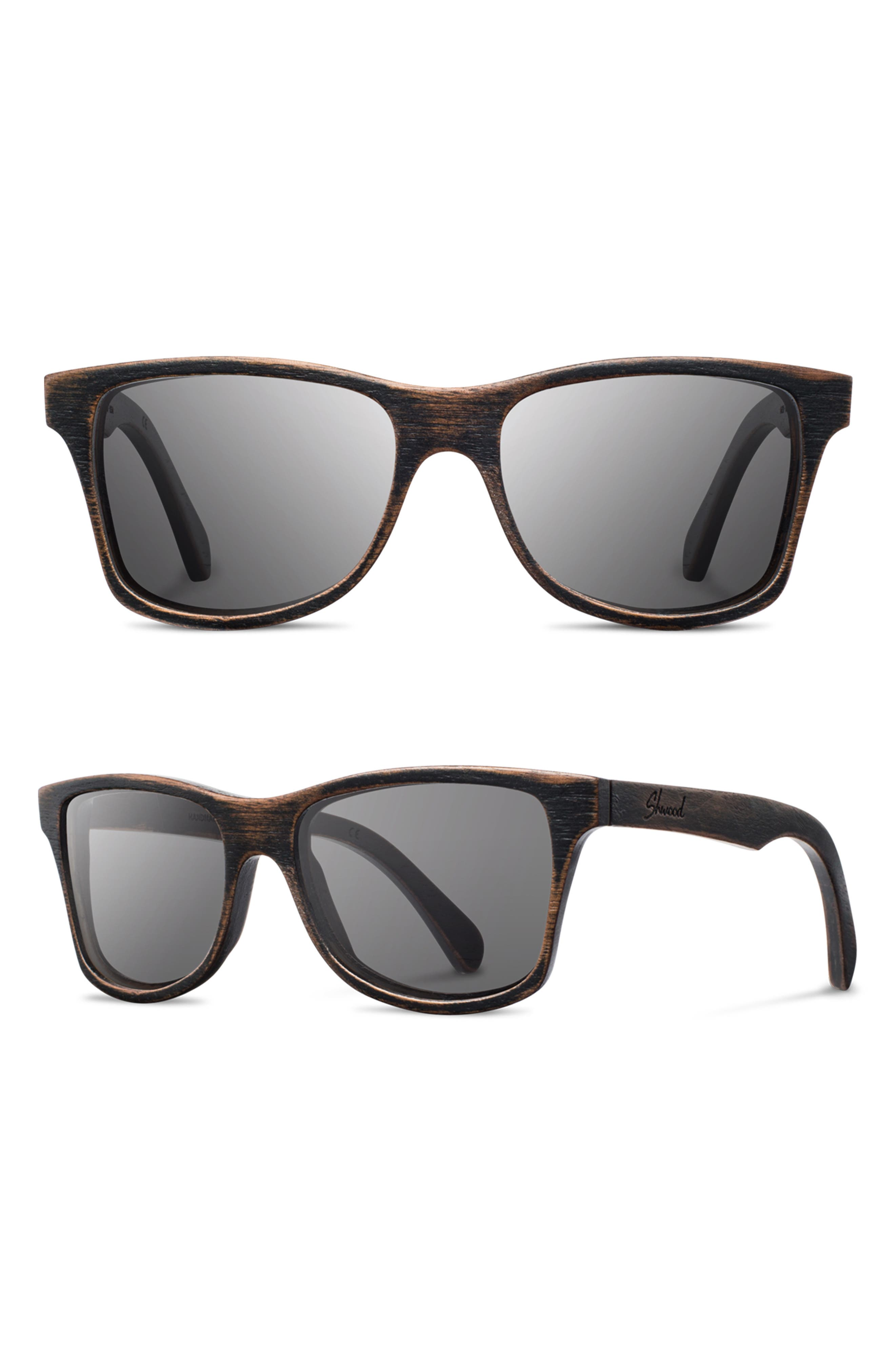 'Canby' 54mm Wood Sunglasses,                             Main thumbnail 3, color,