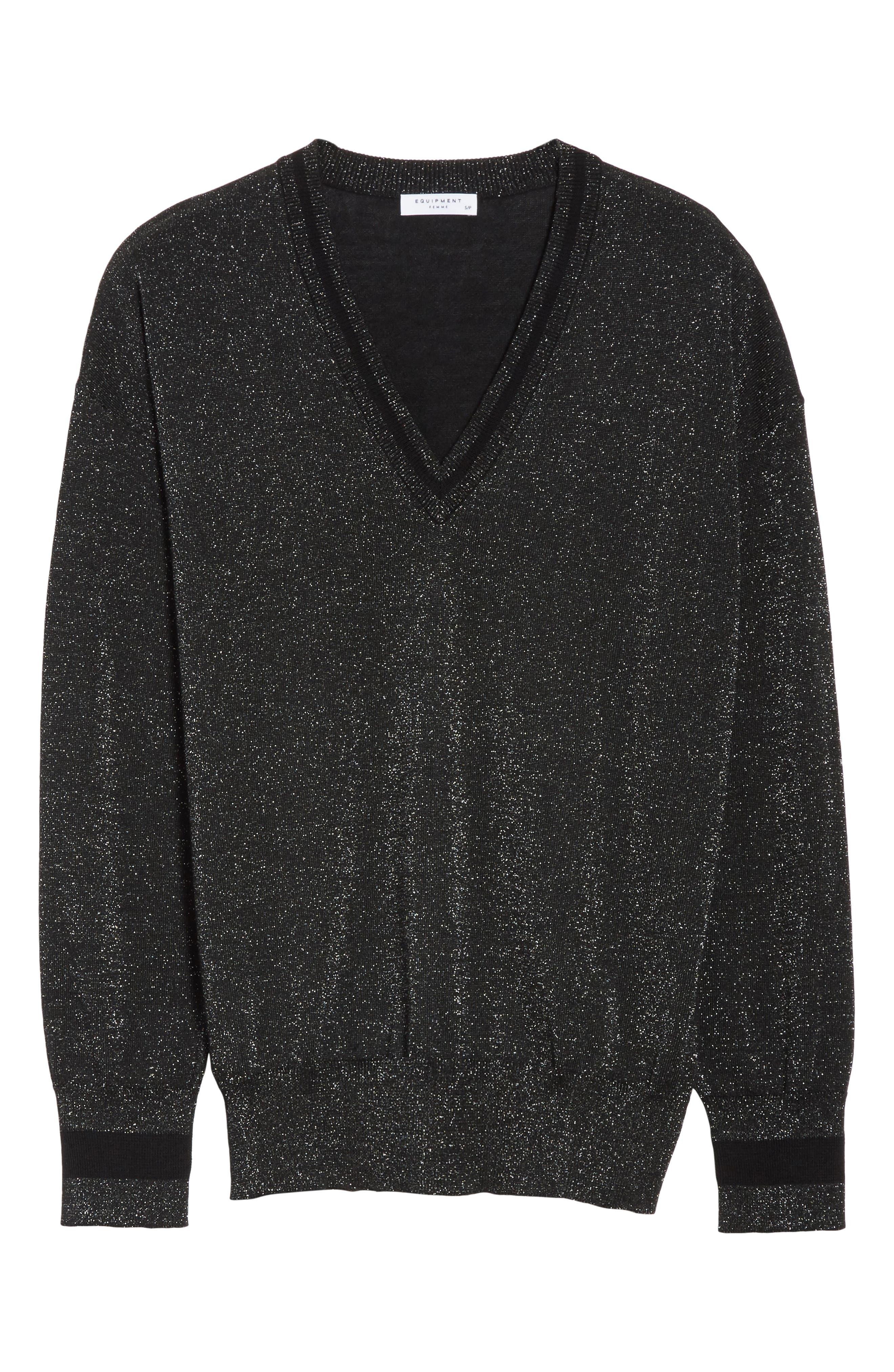 Lucinda V-Neck Sweater,                             Alternate thumbnail 6, color,