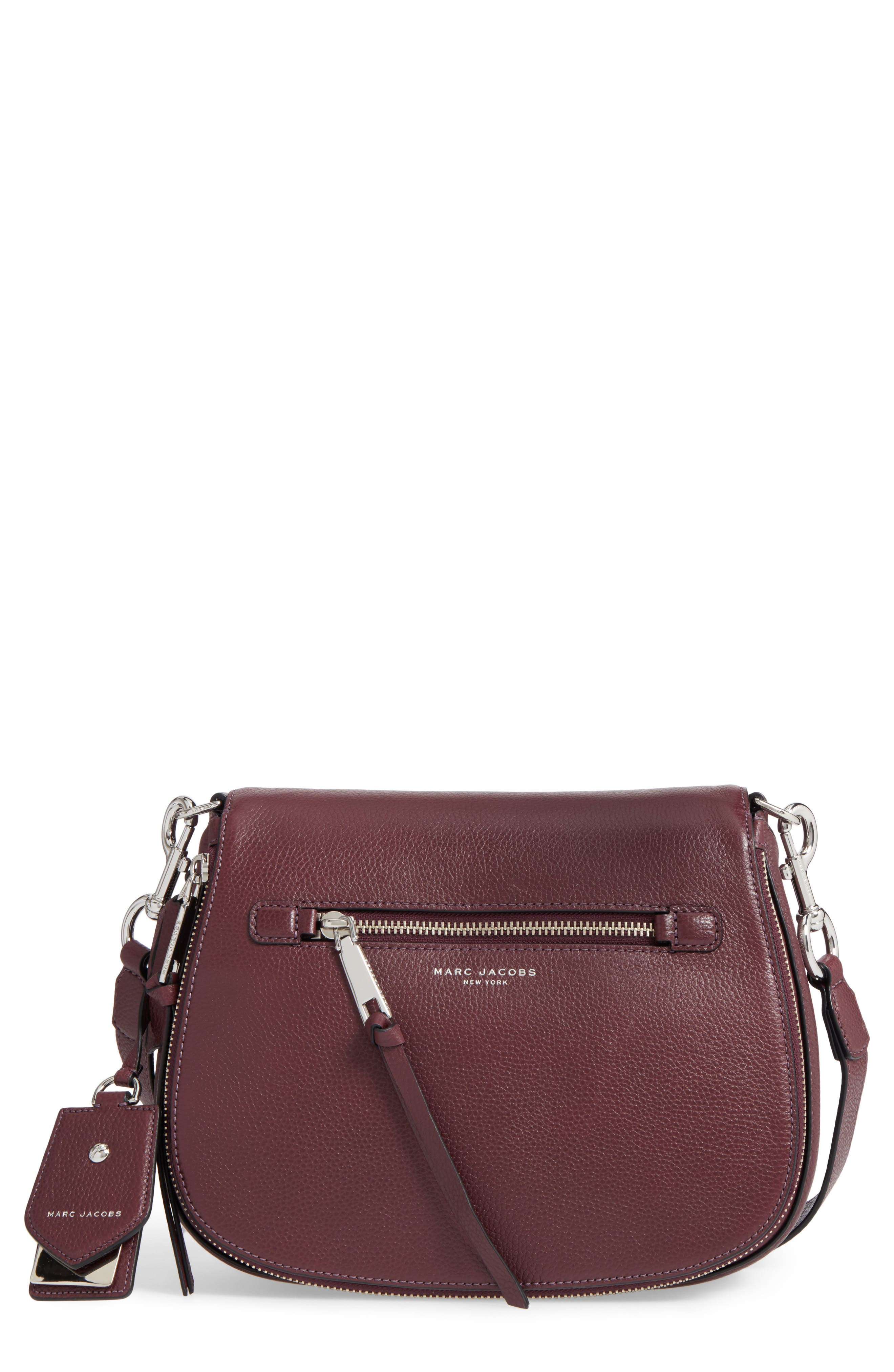 Recruit Nomad Pebbled Leather Crossbody Bag,                             Main thumbnail 1, color,                             538