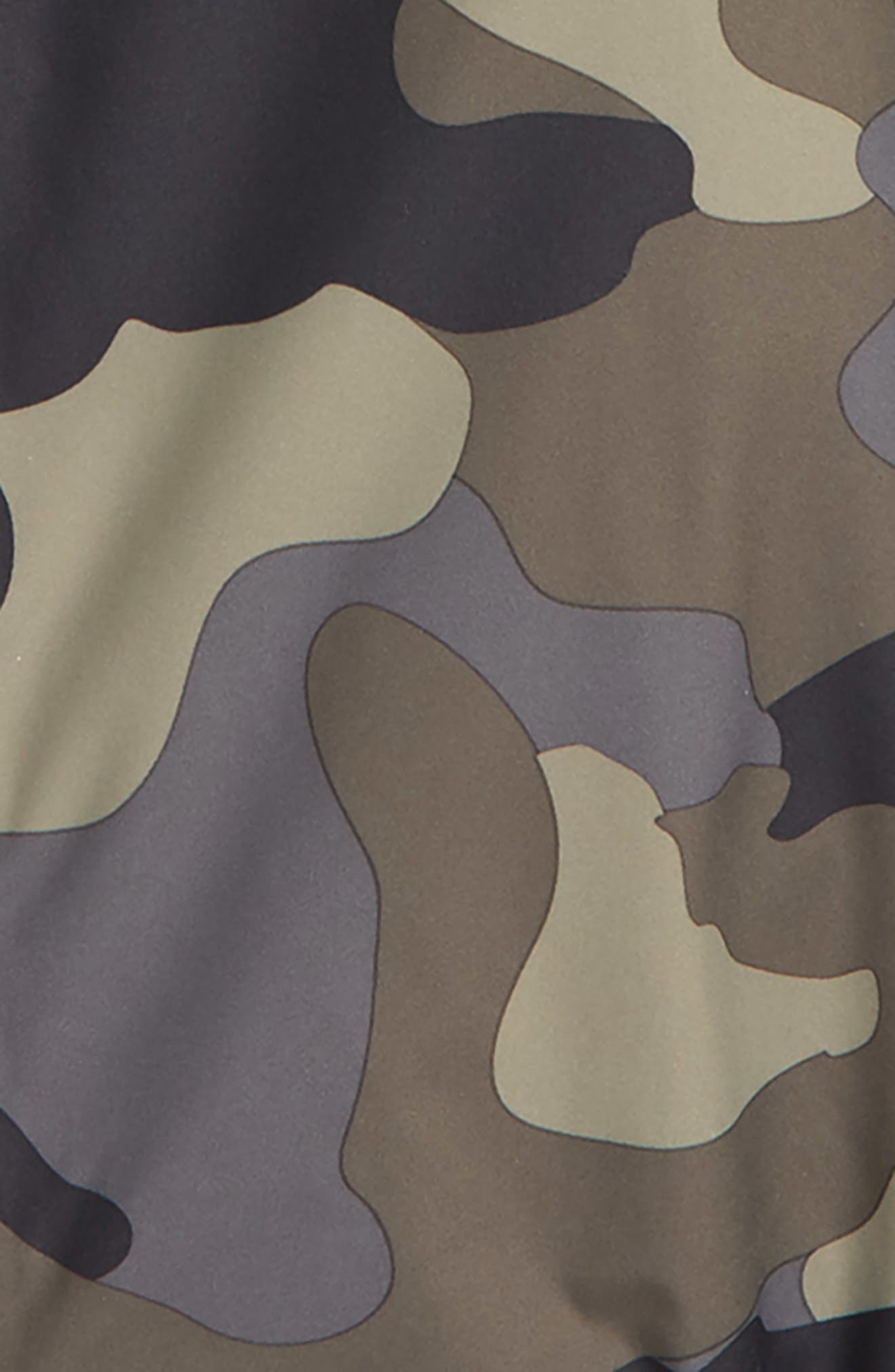 Tailout Hooded Rain Jacket,                             Alternate thumbnail 2, color,                             TAUPE/ GREEN CAMO PRINT