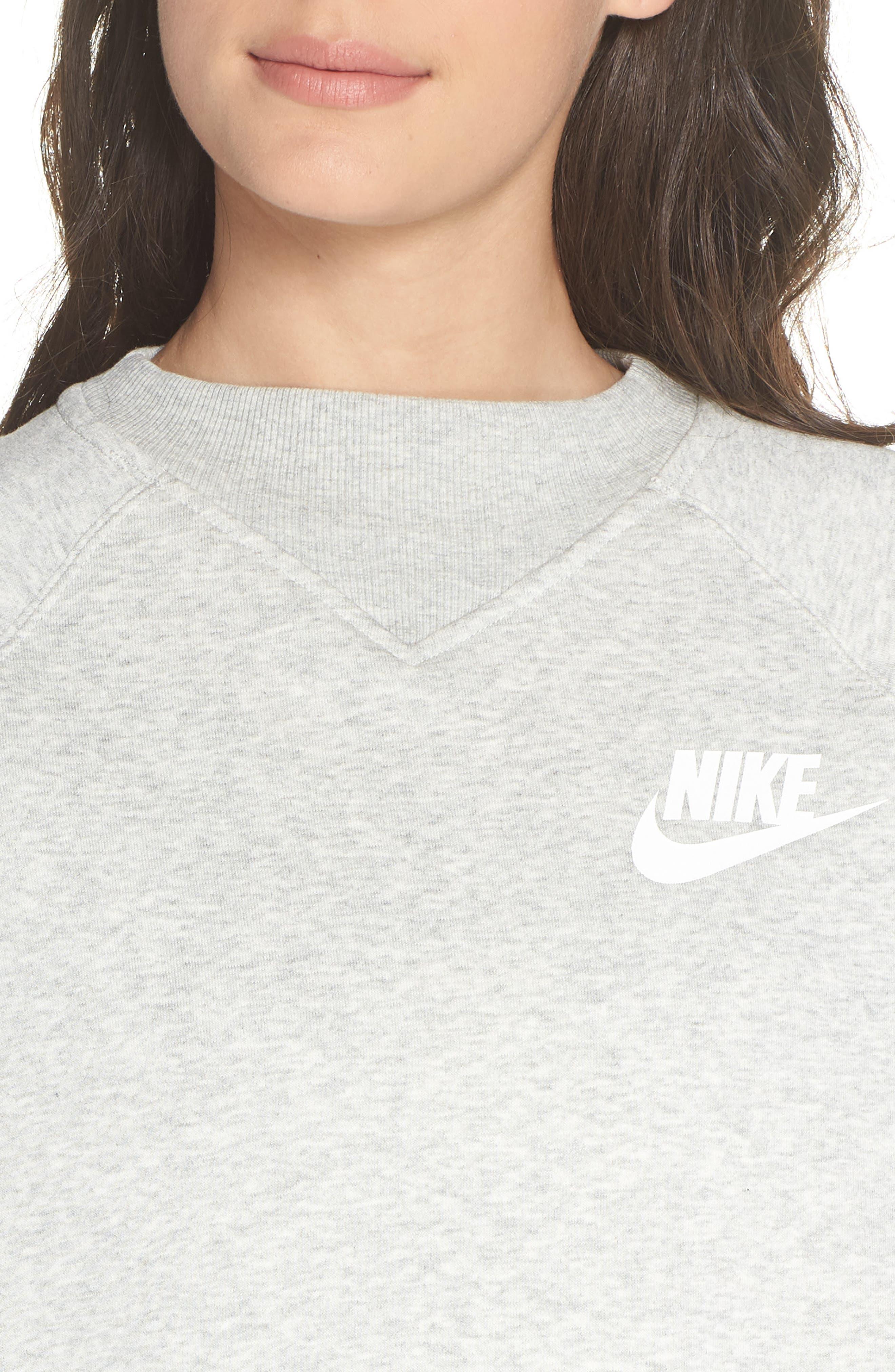 Sportswear Rally Sweatshirt,                             Alternate thumbnail 4, color,                             GREY HEATHER/ WHITE