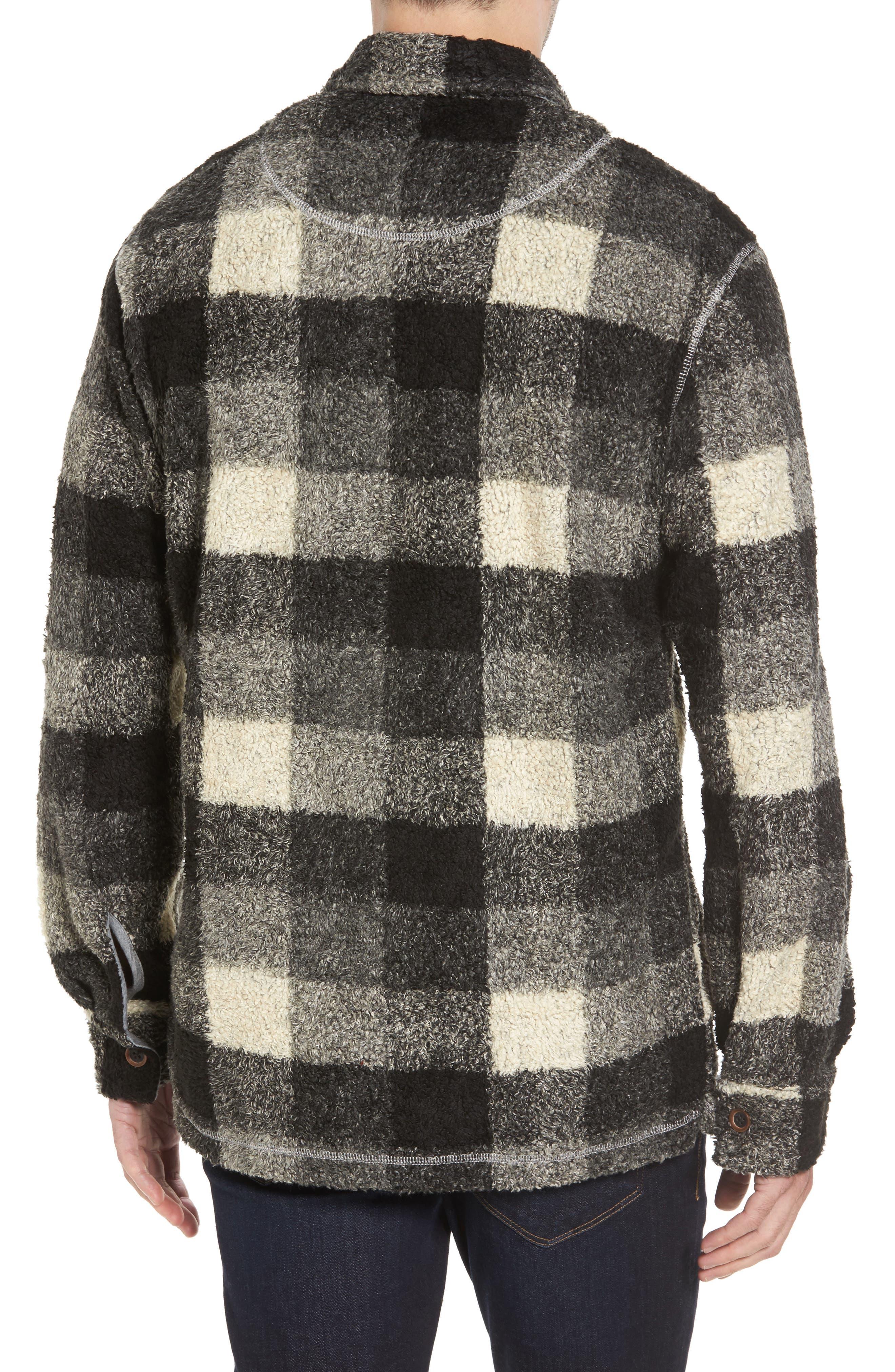 Textured Buffalo Check Shirt Jacket,                             Alternate thumbnail 2, color,                             020