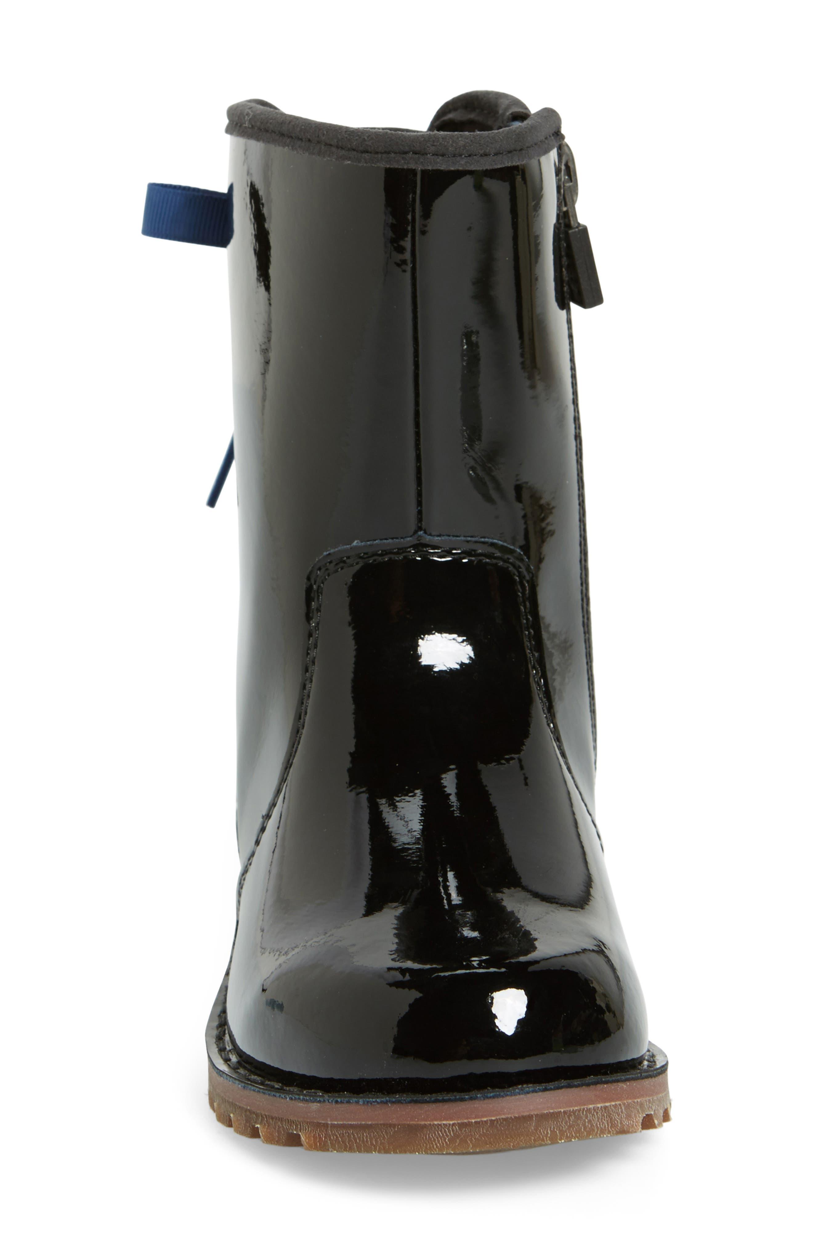Corene Patent Leather Boot,                             Alternate thumbnail 2, color,                             BLACK/ BLACK