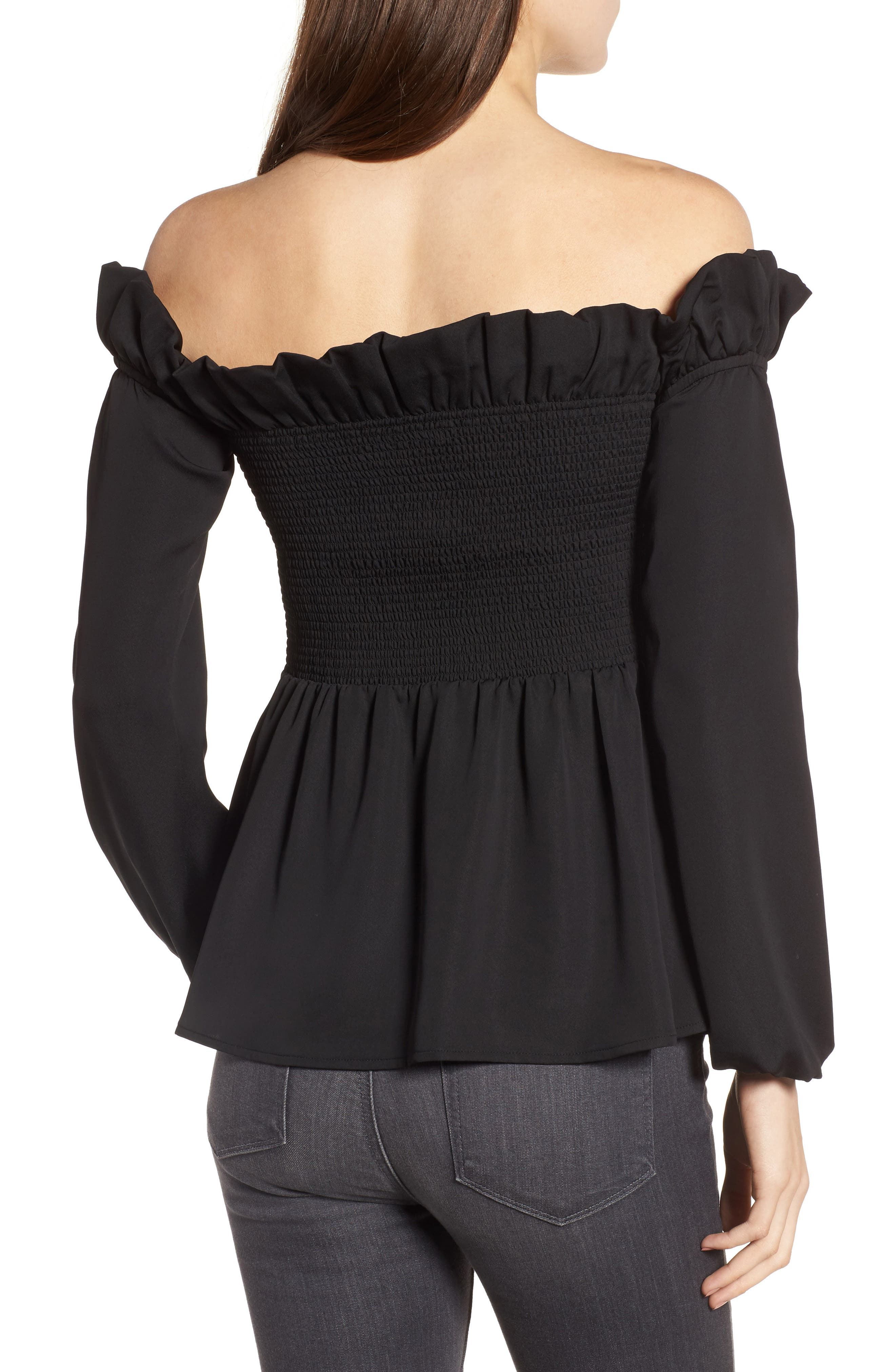 Smocked Top,                             Alternate thumbnail 2, color,                             001