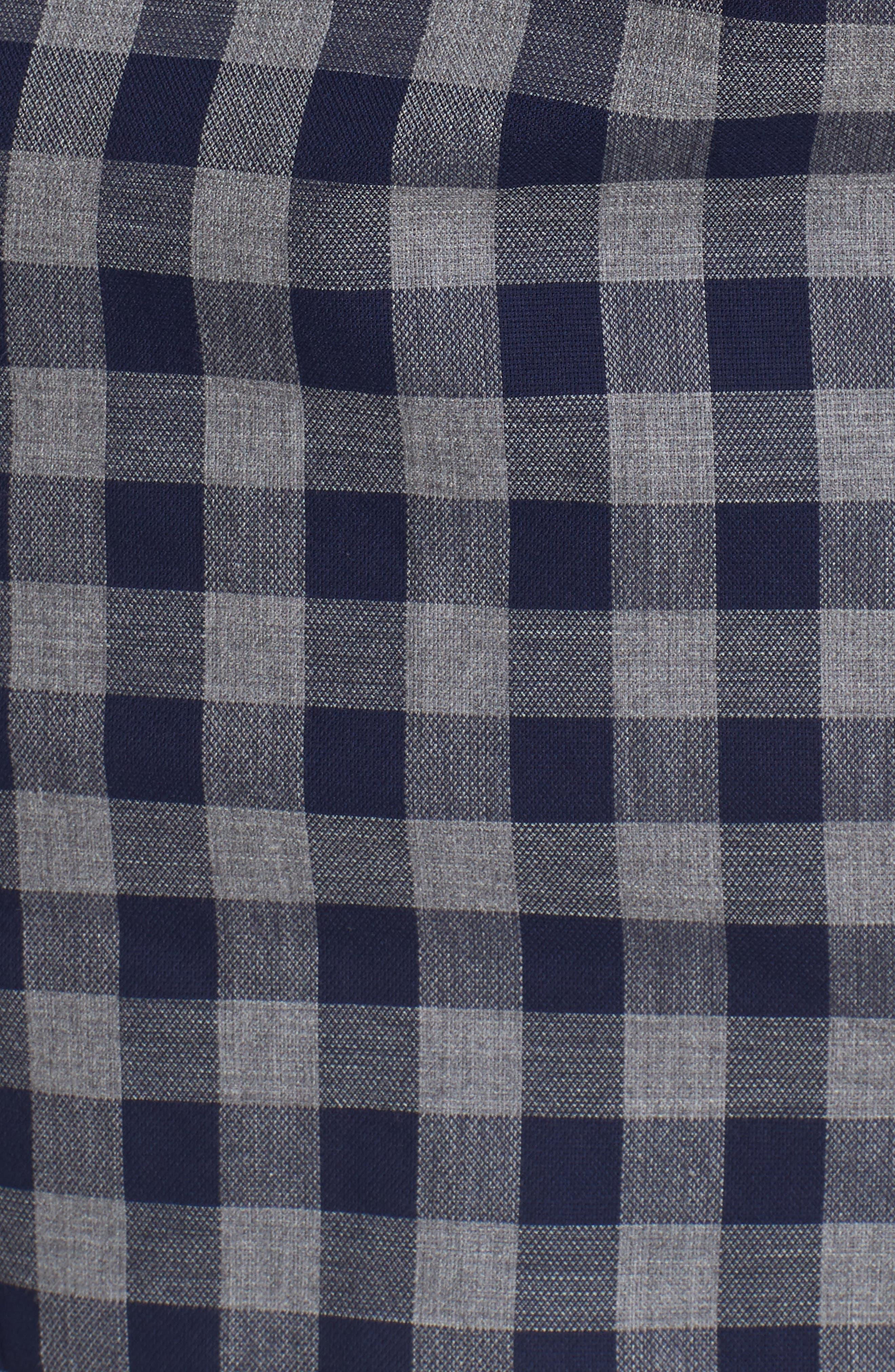 Unbutton Down Slim Fit Check Sport Shirt,                             Alternate thumbnail 5, color,                             400