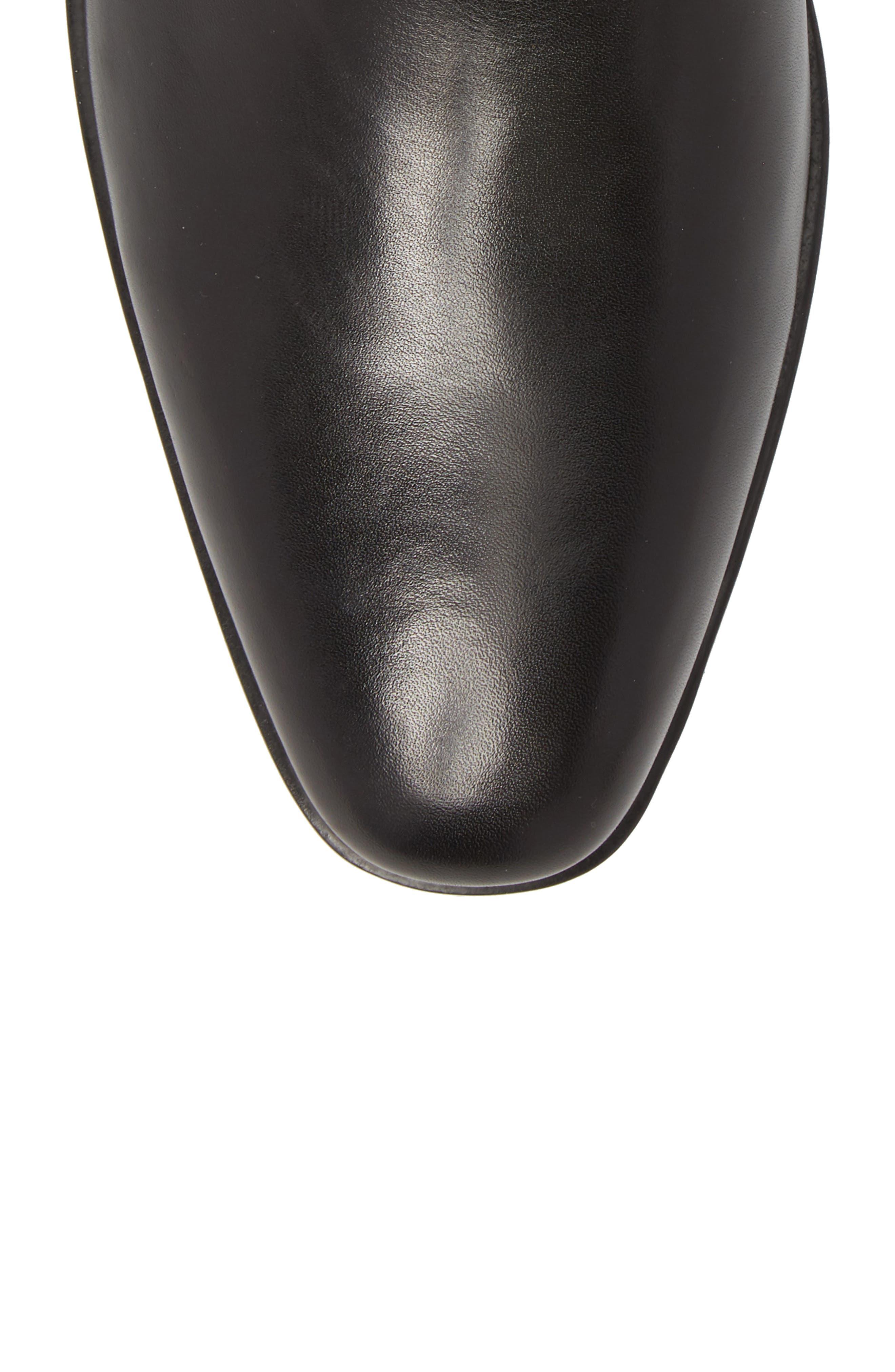 Hugo Boss Portland Mid Chelsea Boot,                             Alternate thumbnail 5, color,                             BLACK LEATHER