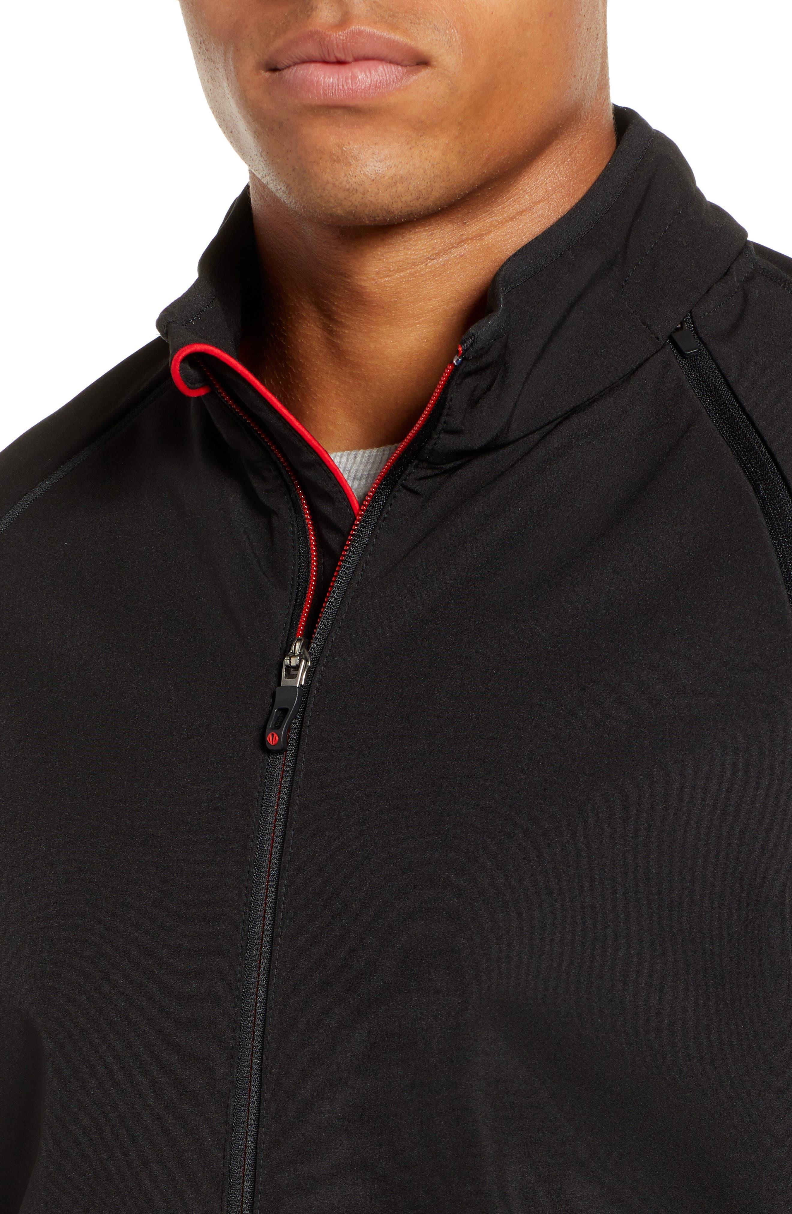 Hanson Water Repellent Convertible Jacket,                             Alternate thumbnail 6, color,                             BLACK