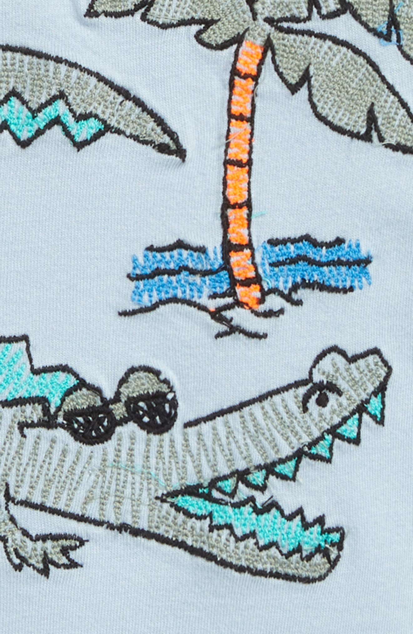 Embroidered T-Shirt,                             Alternate thumbnail 2, color,                             420