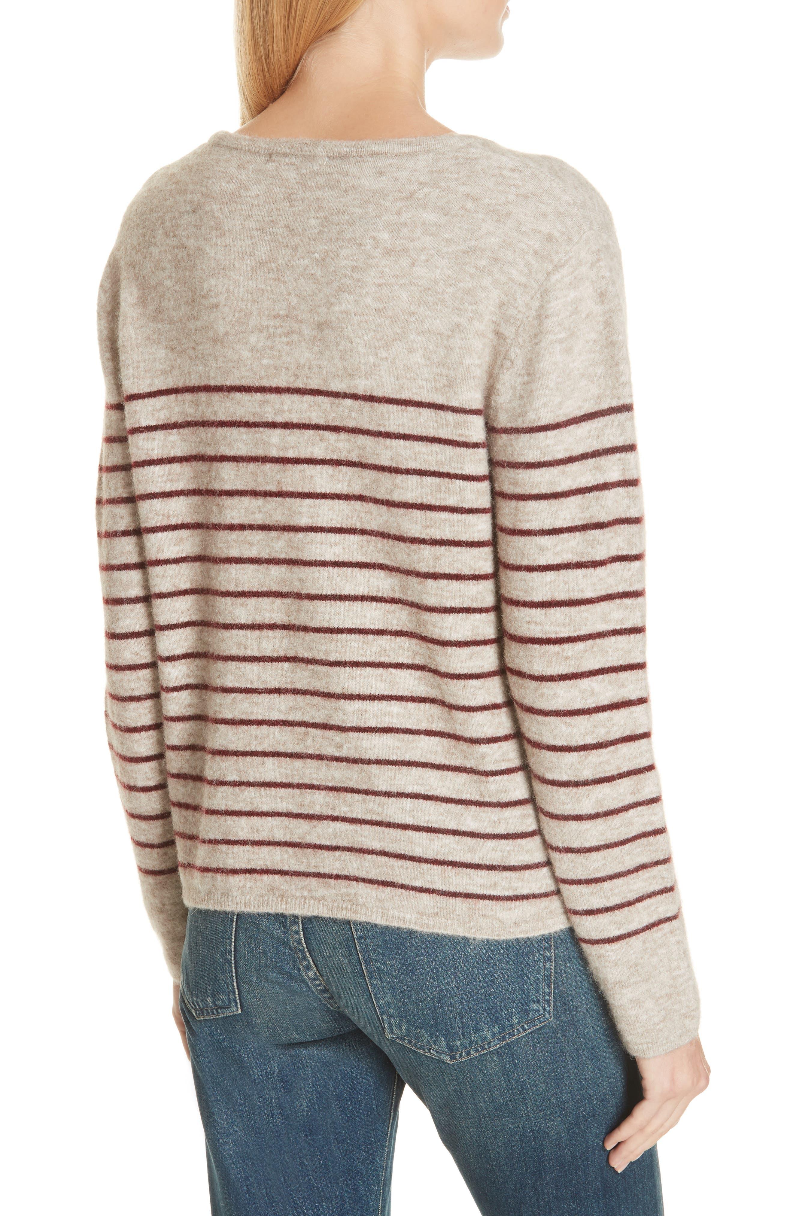 Artaud Stripe Sweater,                             Alternate thumbnail 2, color,                             BEIGE