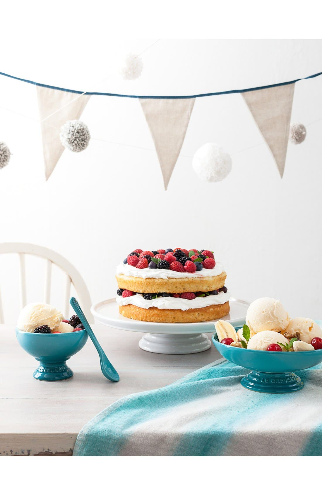 Stoneware Cake Stand,                             Alternate thumbnail 2, color,                             WHITE