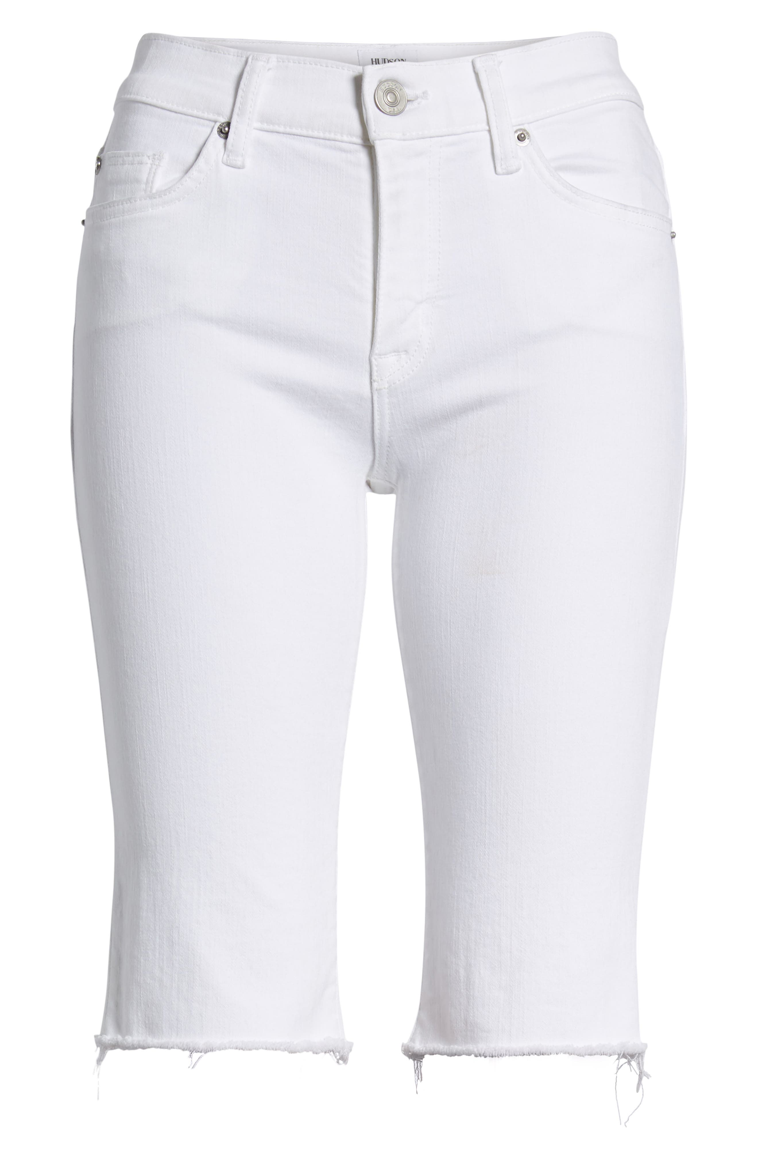 Amelia Cutoff Knee Shorts,                             Alternate thumbnail 7, color,                             OPTICAL WHITE