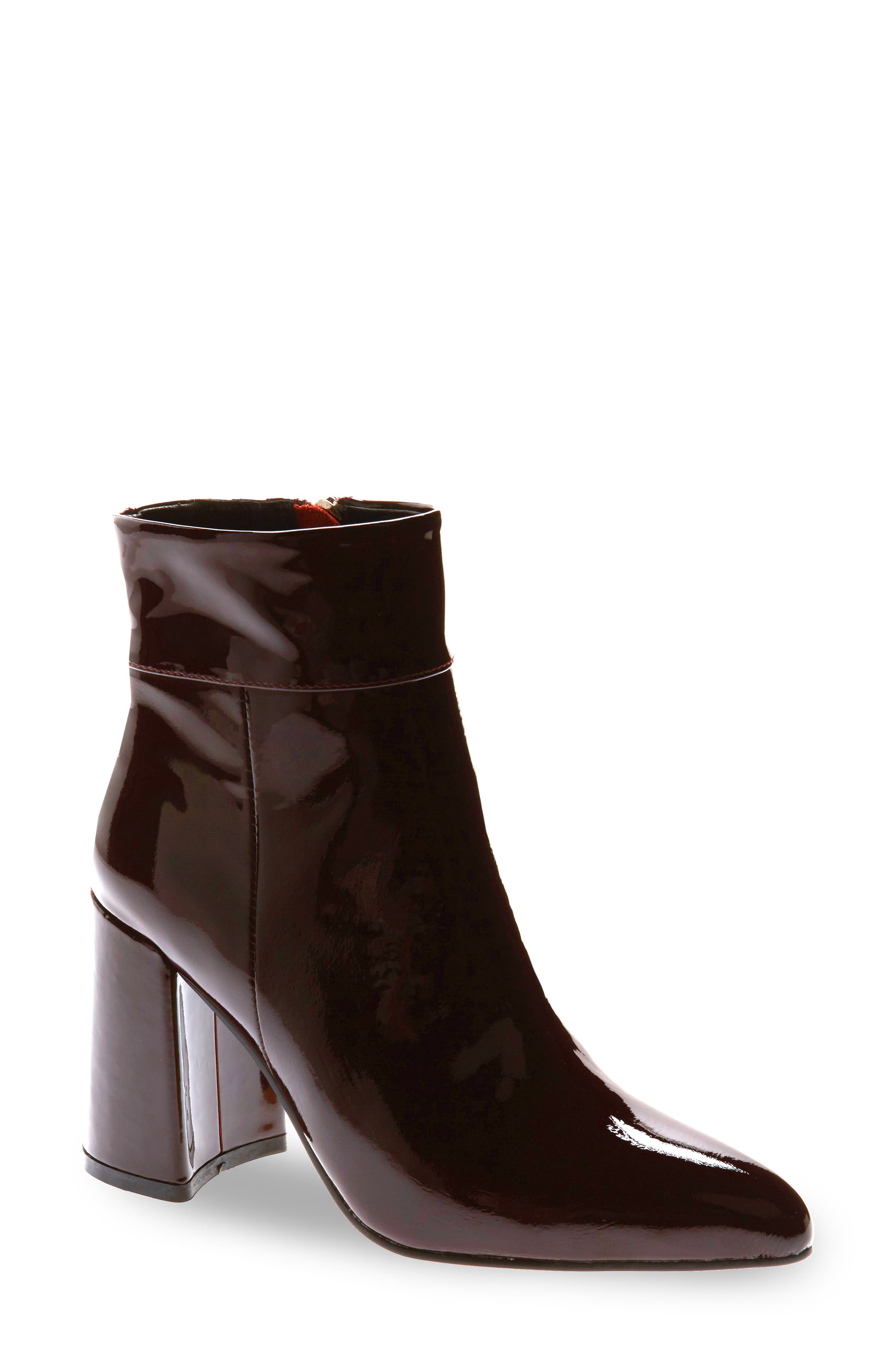ALIAS MAE Beth Bootie in Burgundy Patent Leather