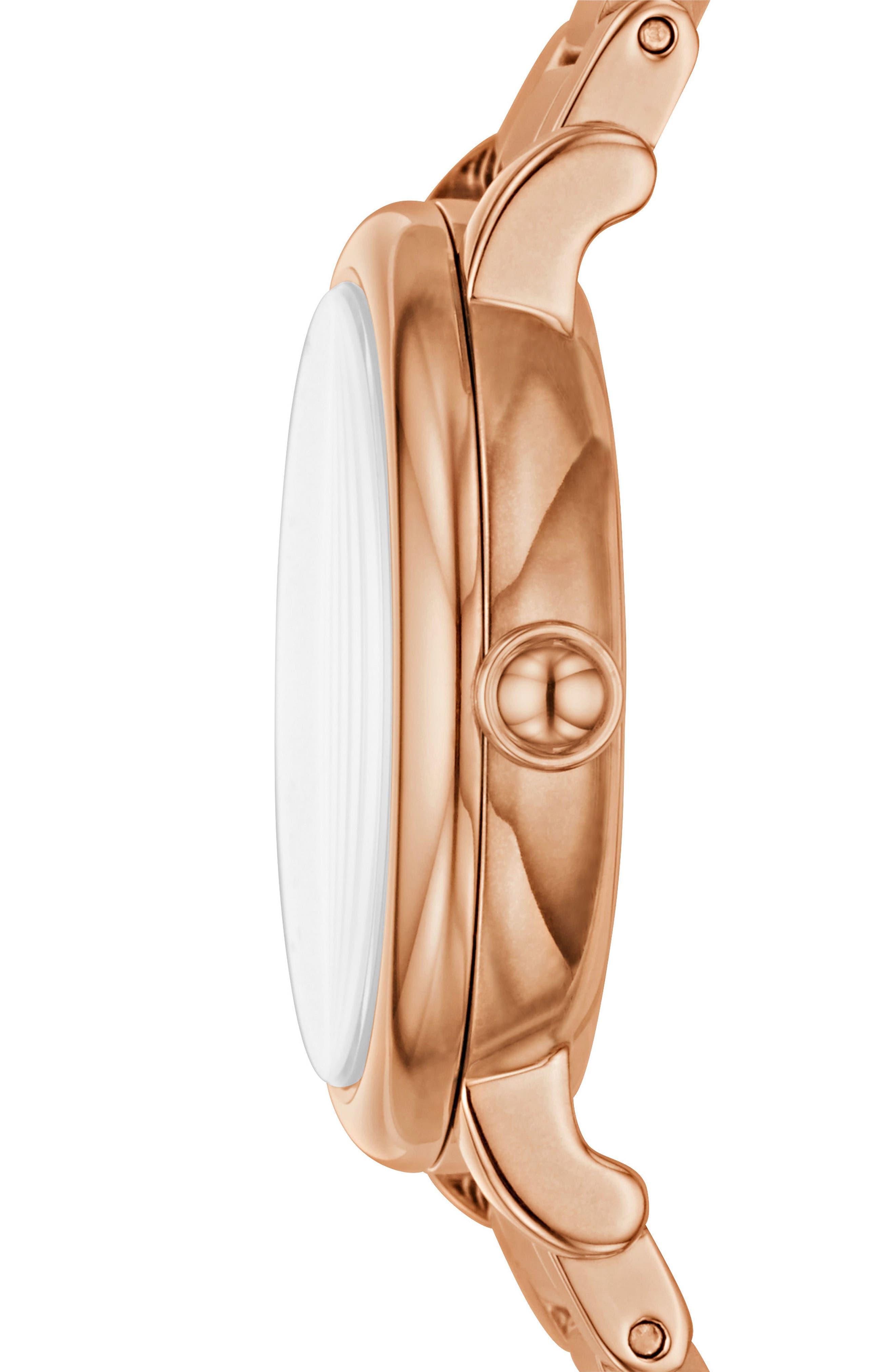Roxy Crystal Bracelet Watch, 28mm,                             Alternate thumbnail 4, color,