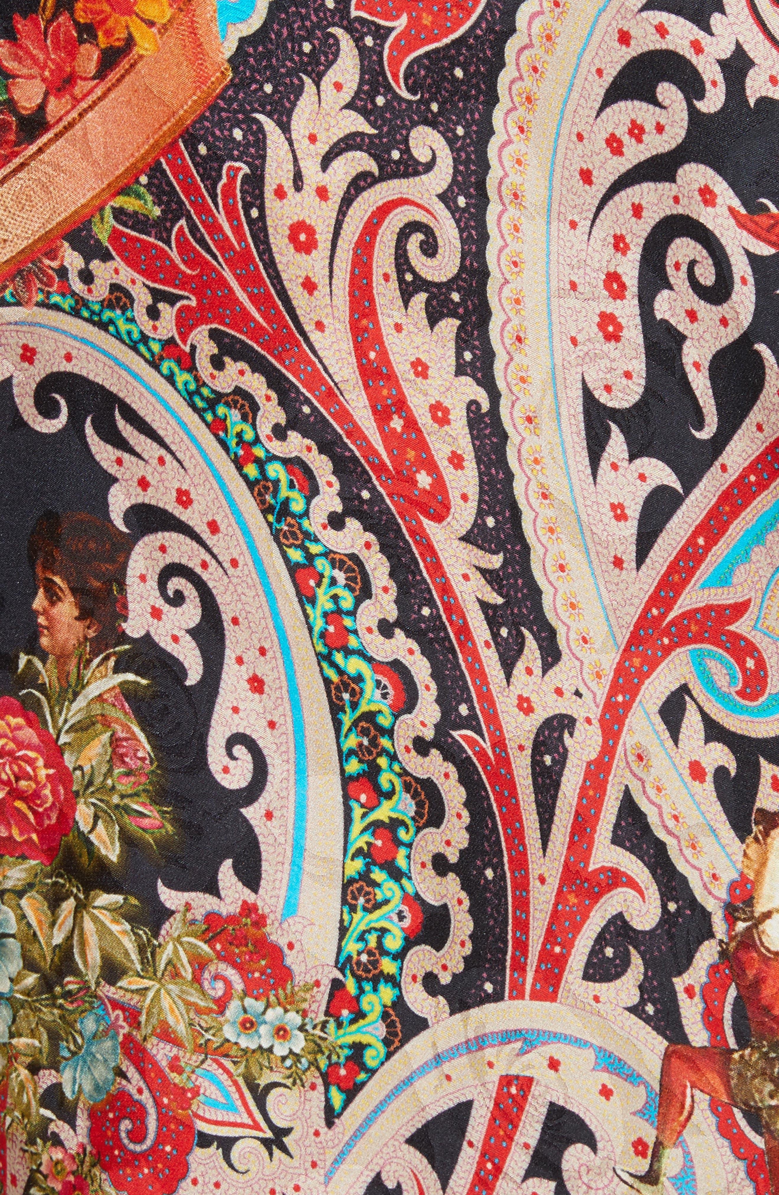 Print Caftan Dress,                             Alternate thumbnail 5, color,                             001