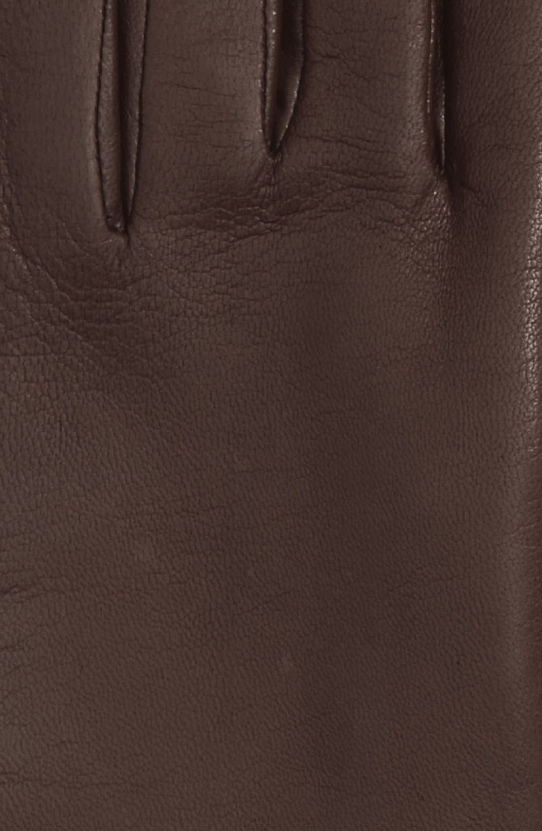 'Basic Tech' Cashmere Lined Leather Gloves,                             Alternate thumbnail 16, color,