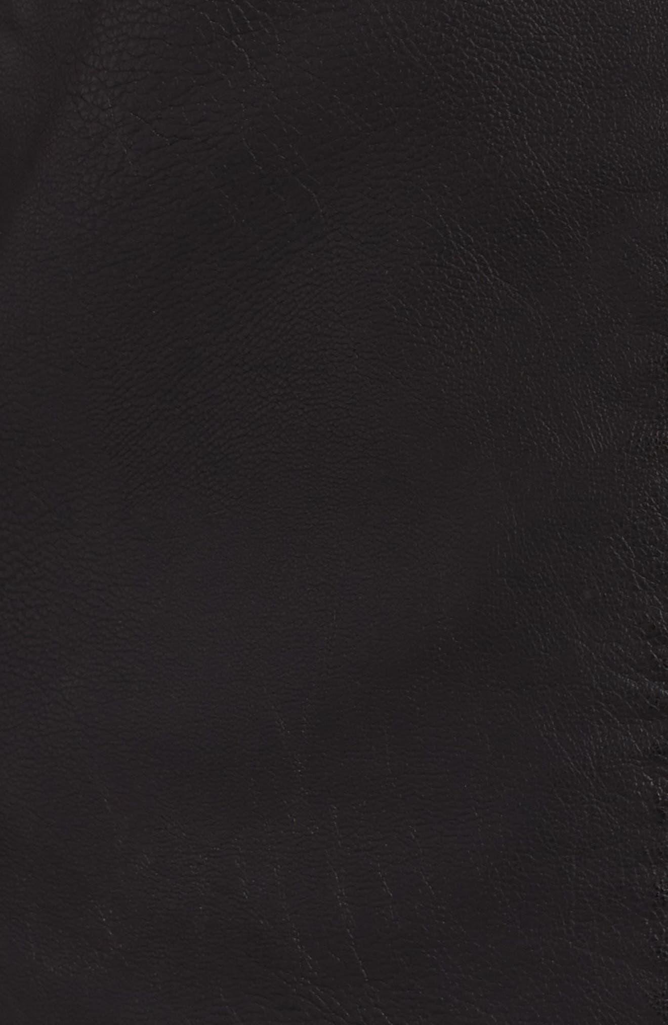 Faux Leather Moto Jacket,                             Alternate thumbnail 3, color,