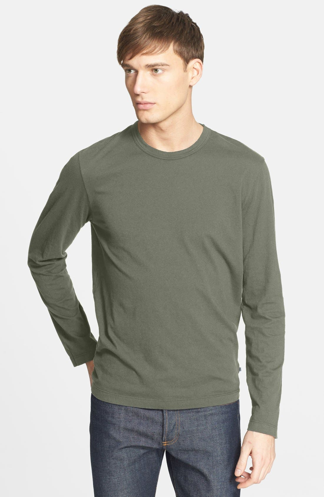 Long Sleeve Crewneck T-Shirt,                             Main thumbnail 20, color,