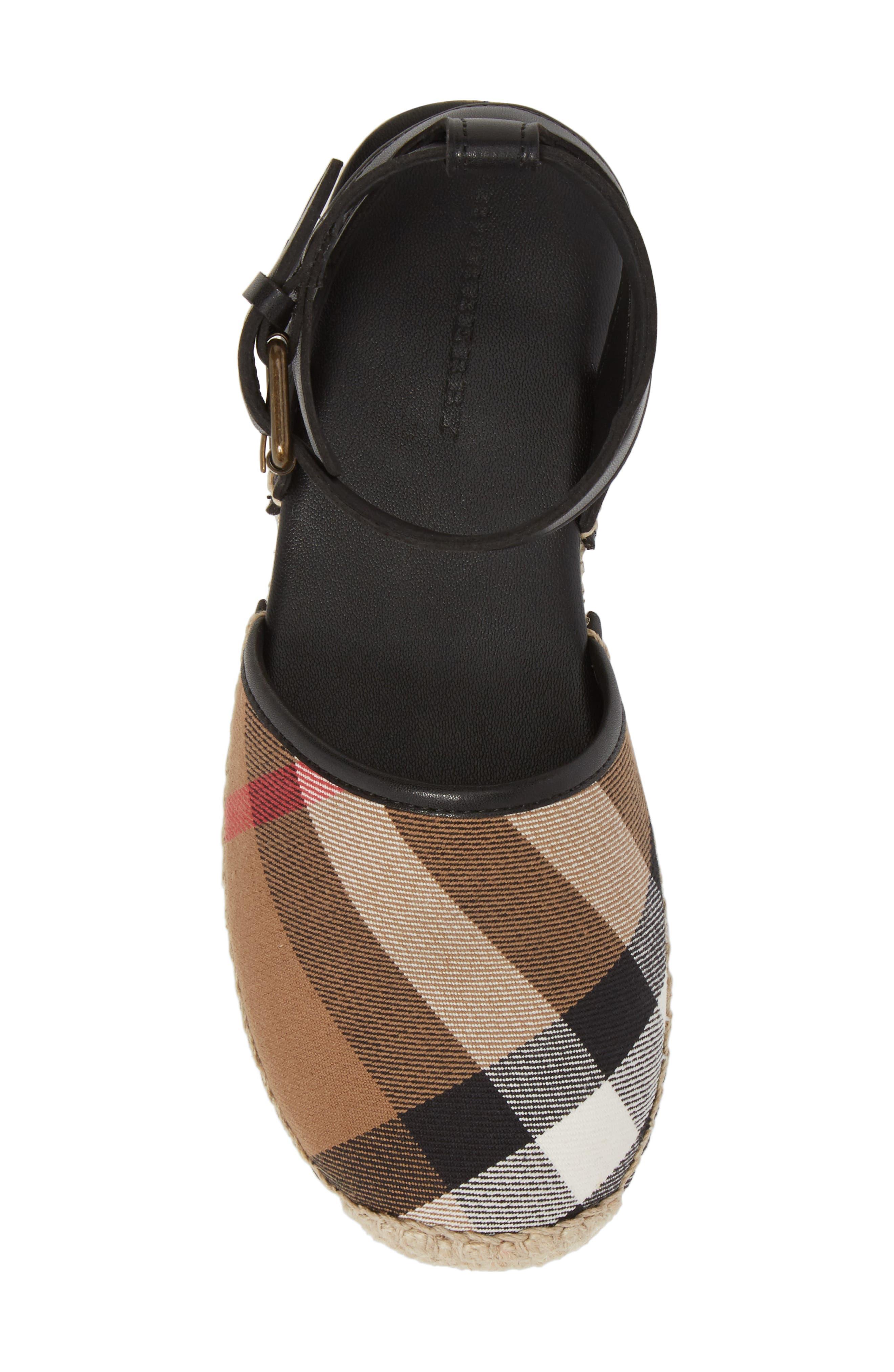 Perth Ankle Strap Sandal,                             Alternate thumbnail 5, color,                             BLACK