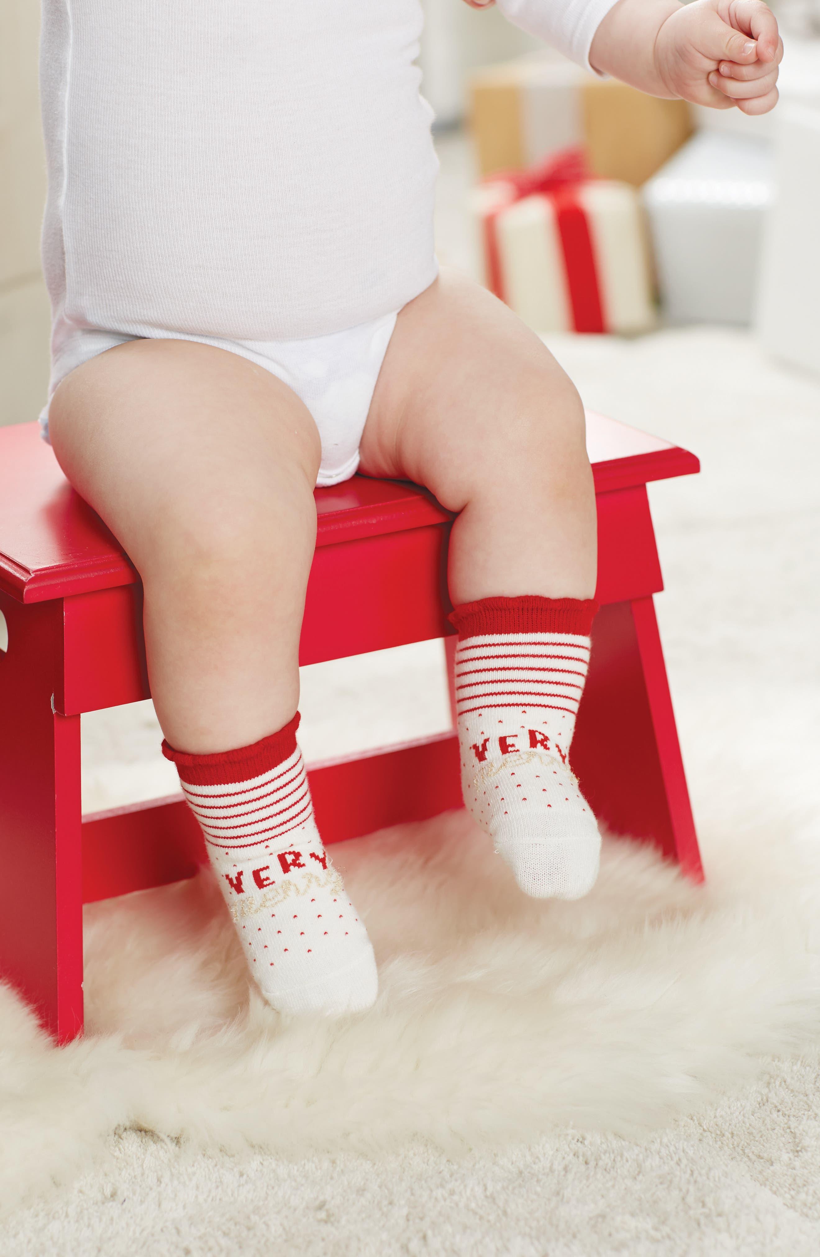 Very Merry Socks,                             Alternate thumbnail 2, color,