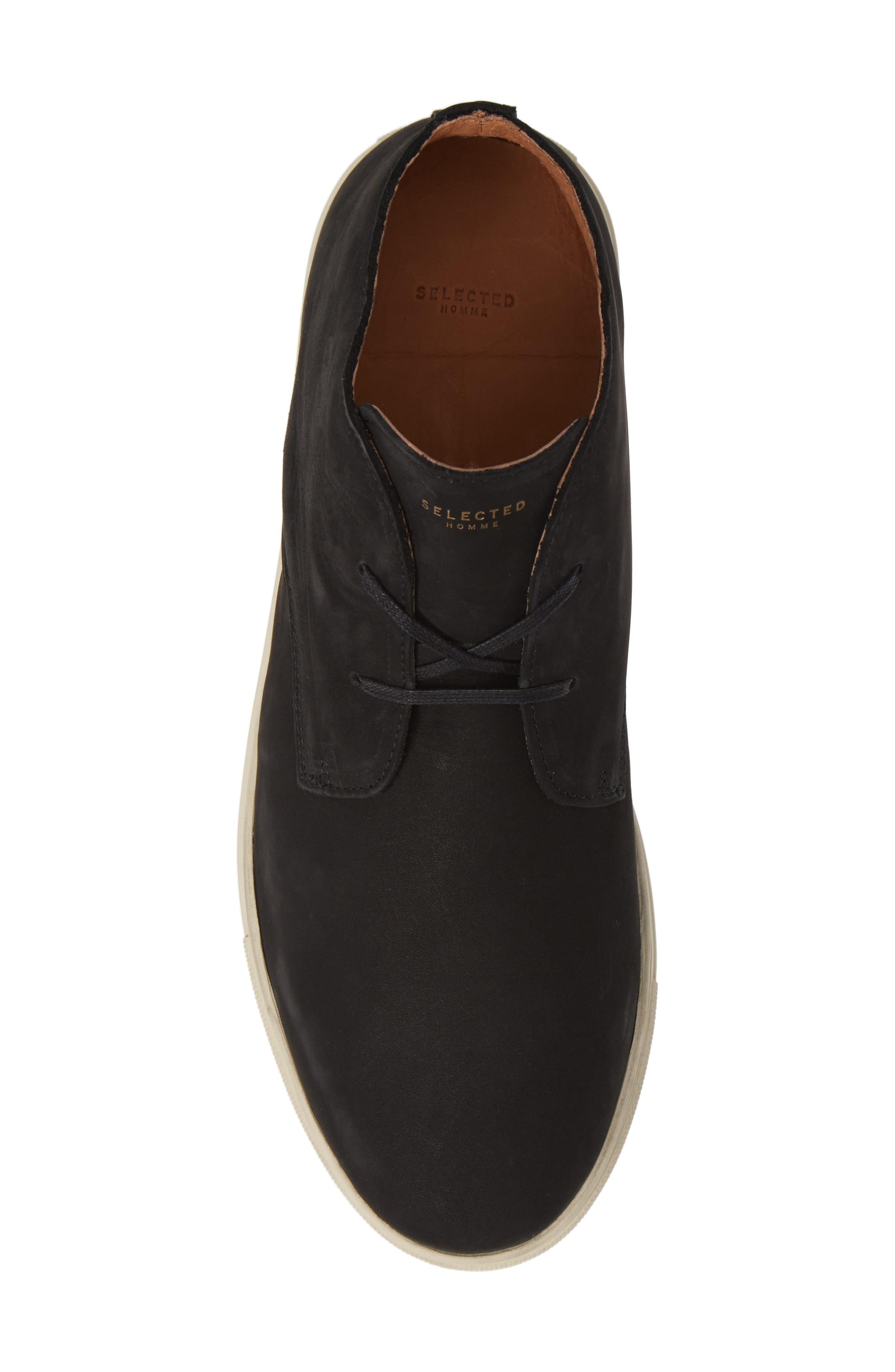 Dempsey Chukka Sneaker,                             Alternate thumbnail 5, color,                             BLACK