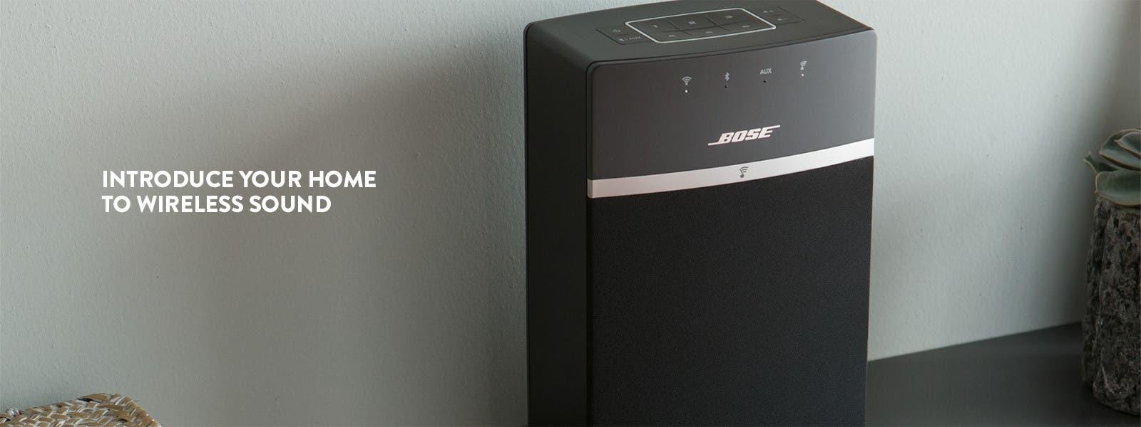 Bose SoundTouch 10 wireless speaker system.