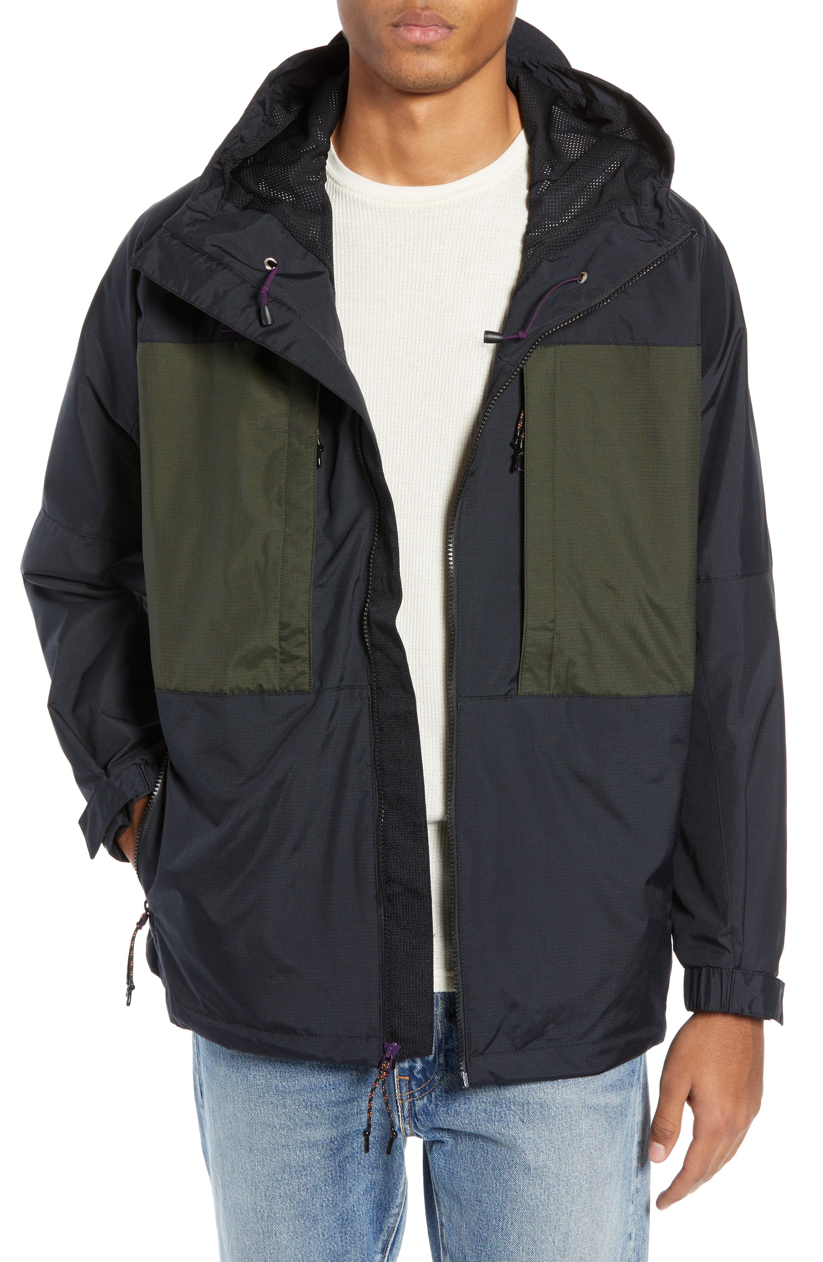 ACG Men's Anorak Jacket,                             Main thumbnail 1, color,                             BLACK/ SEQUOIA/ BLACK