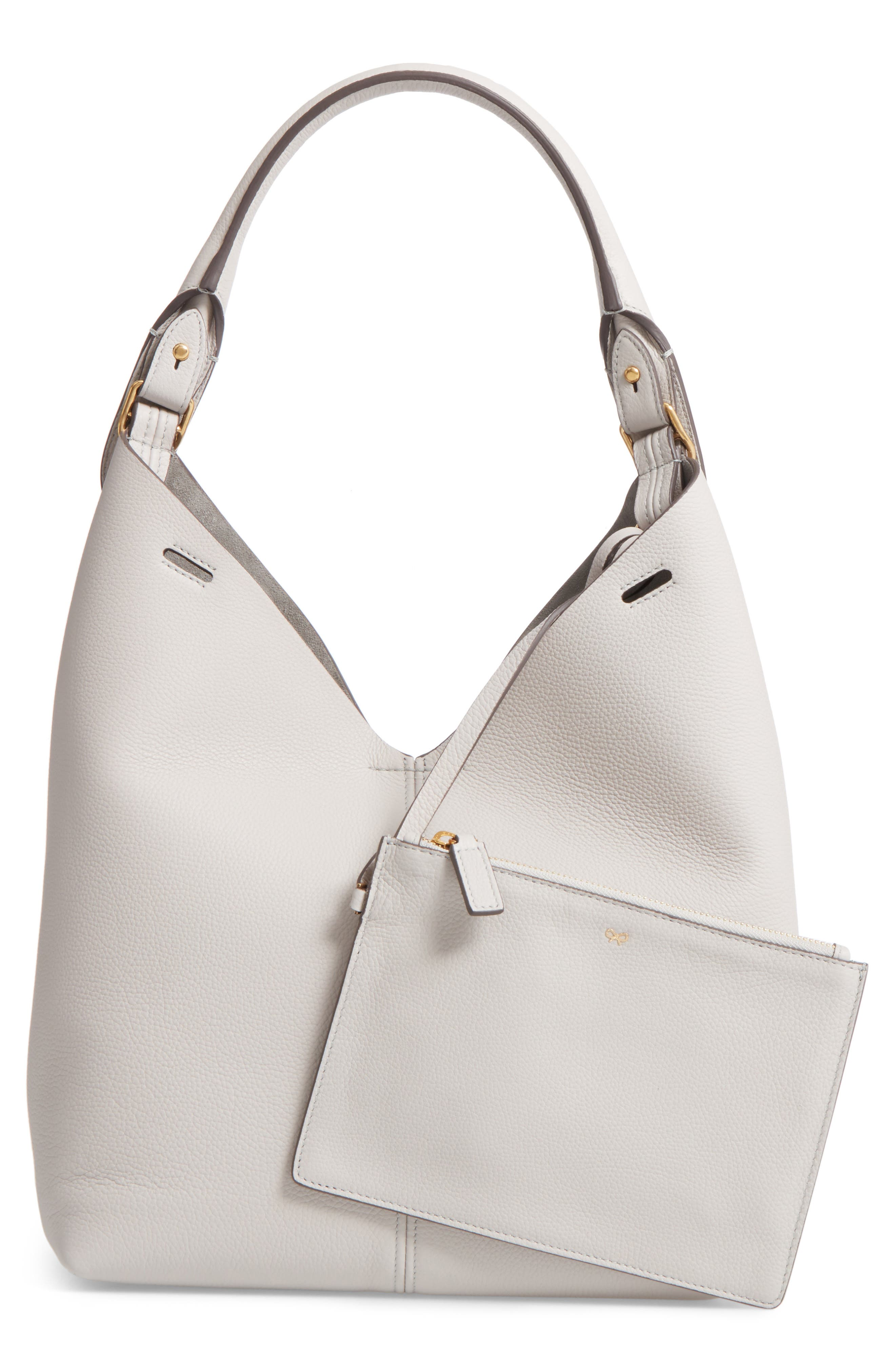 Small Leather Hobo,                             Alternate thumbnail 3, color,                             020