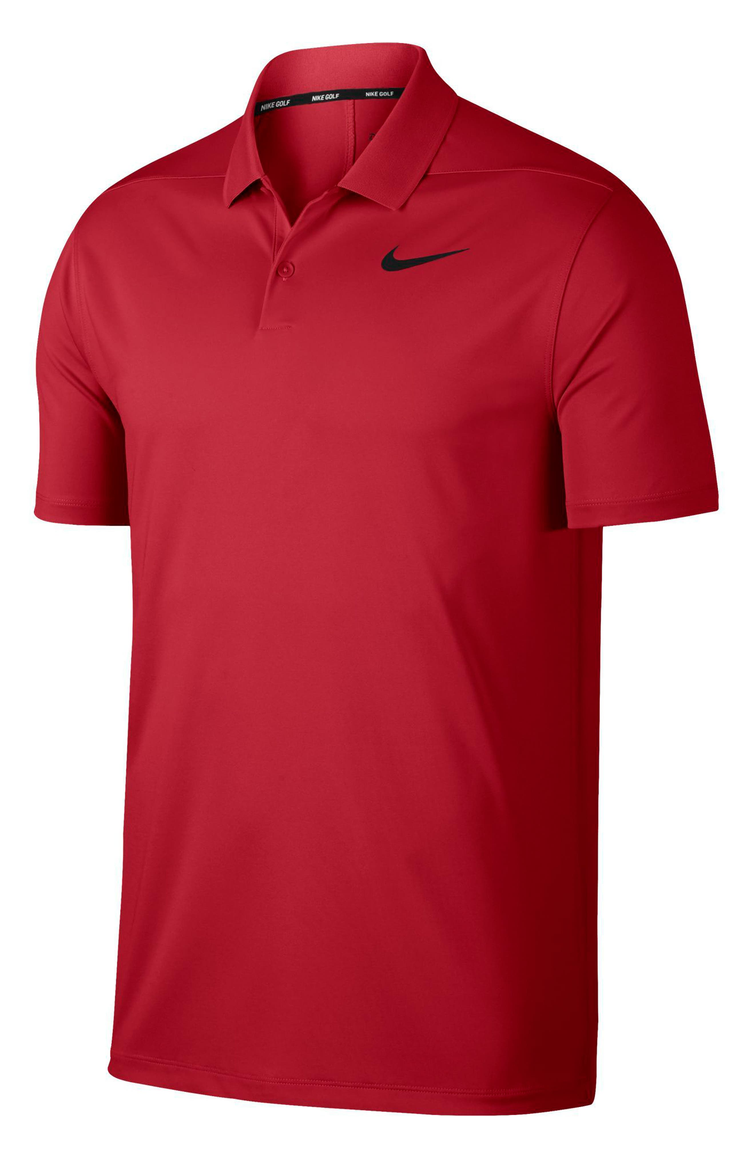 Dry Victory Golf Polo,                             Alternate thumbnail 3, color,                             UNIVERSITY RED/ BLACK