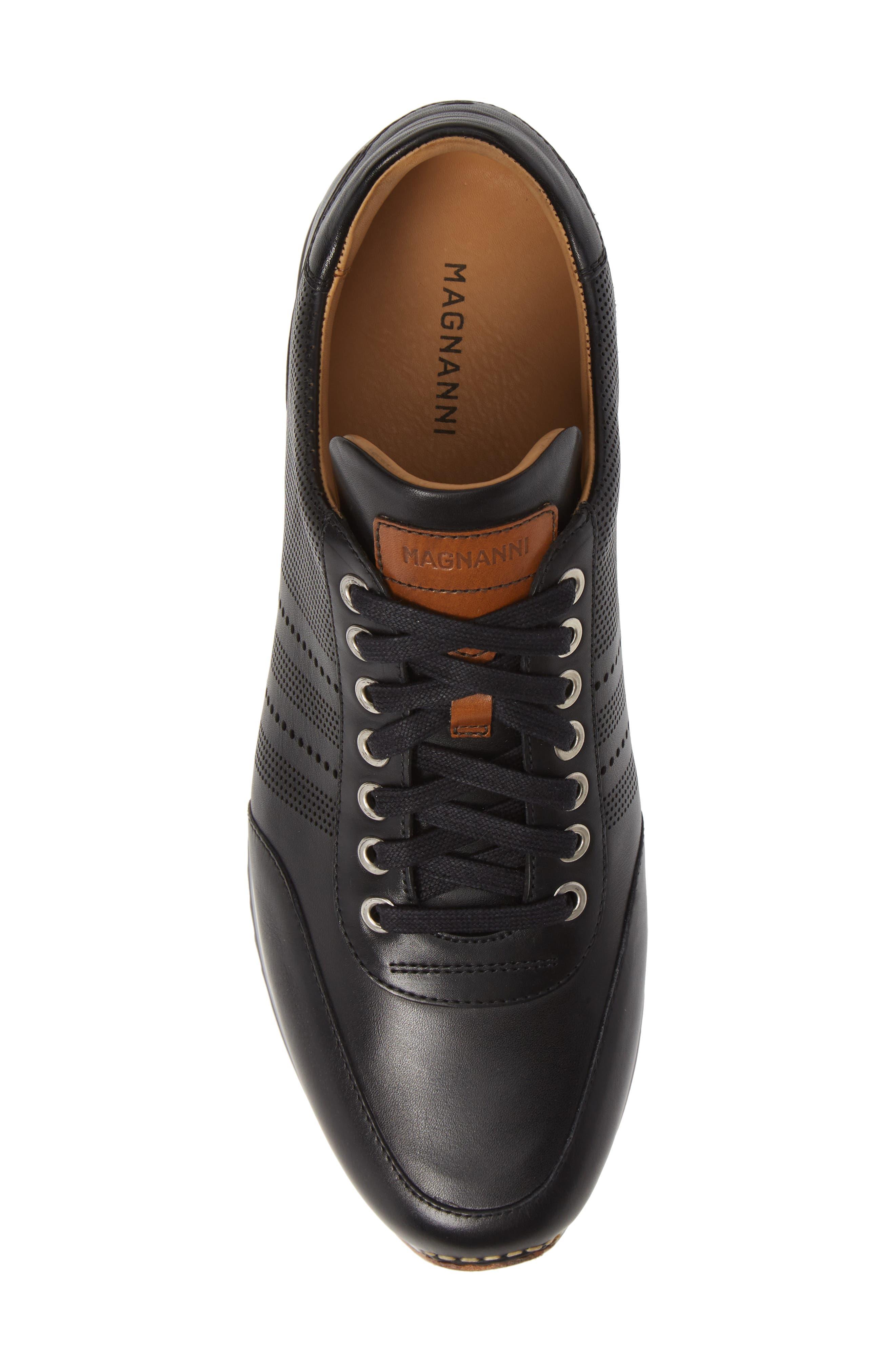 Merino Sneaker,                             Alternate thumbnail 5, color,                             BLACK LEATHER