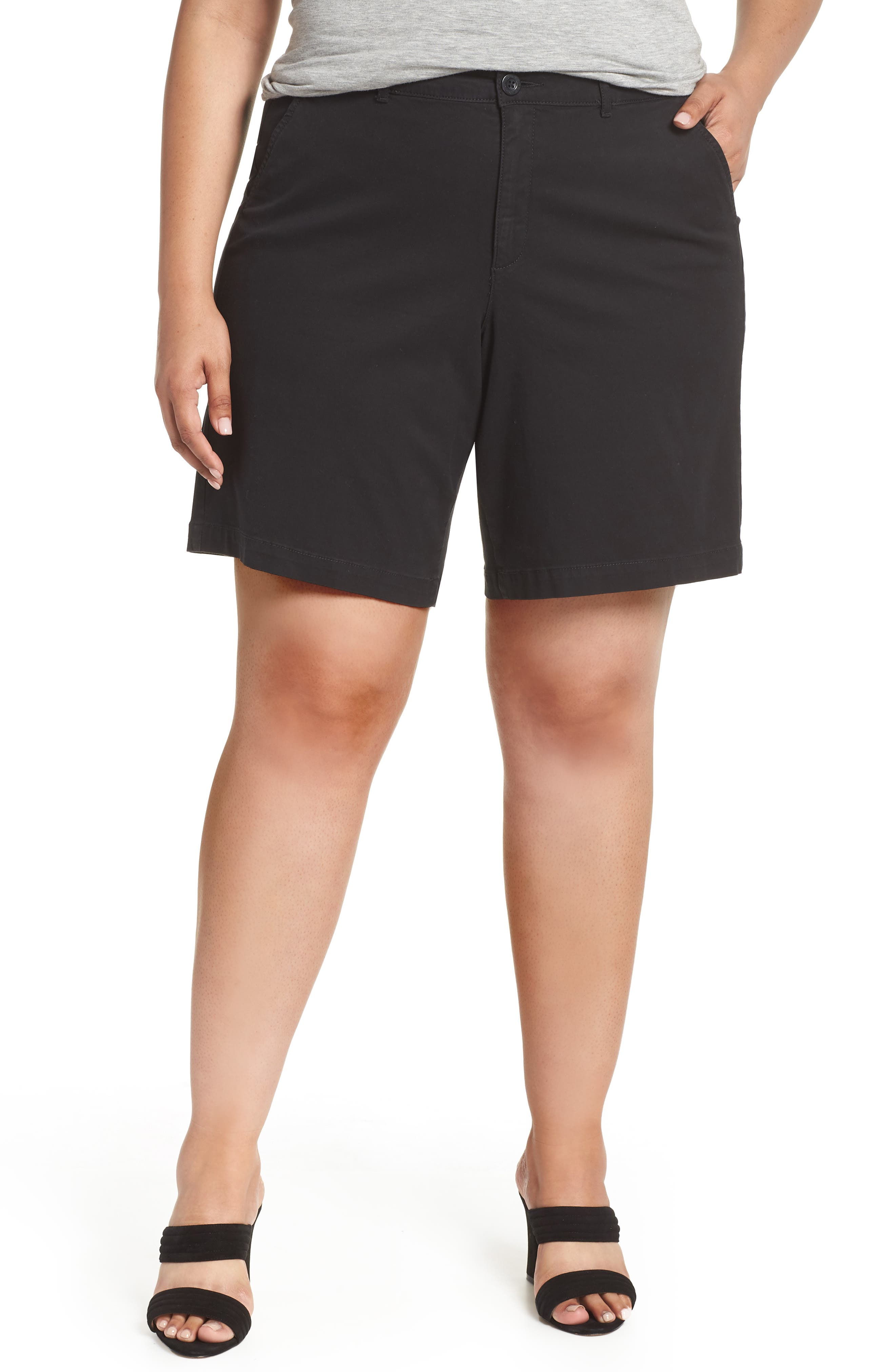 Stretch Twill Bermuda Shorts,                         Main,                         color, 001
