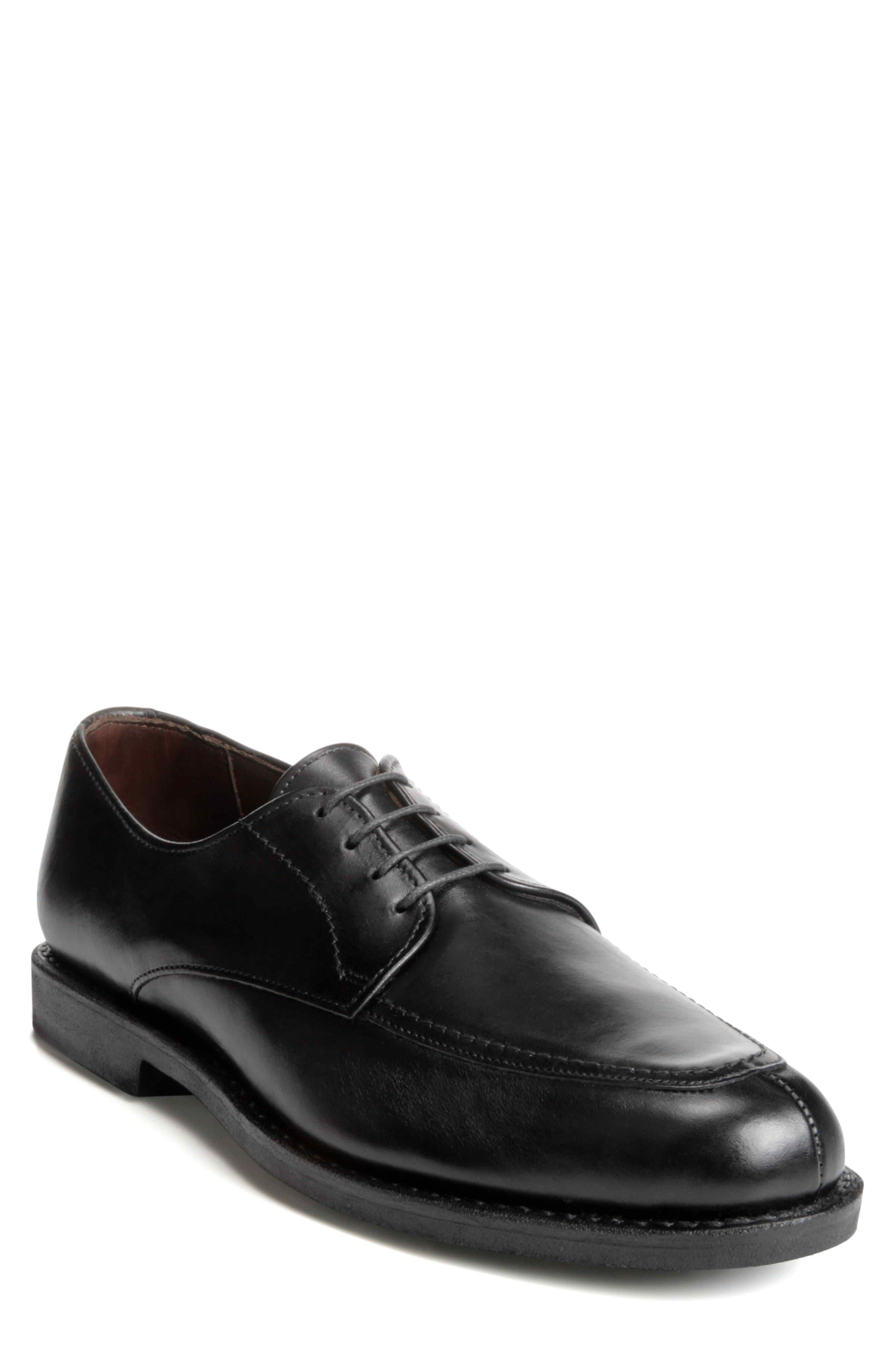 ALLEN EDMONDS MSP Split Toe Derby, Main, color, BLACK LEATHER