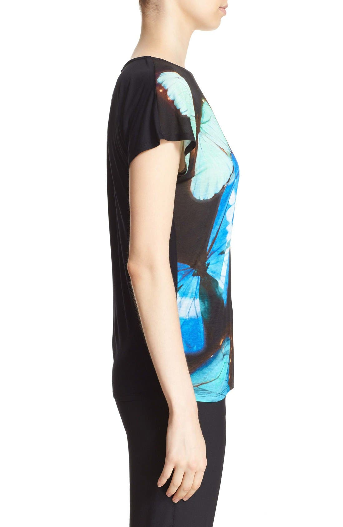 'Flutor - Butterfly Collective' Print Tee,                             Alternate thumbnail 2, color,                             001