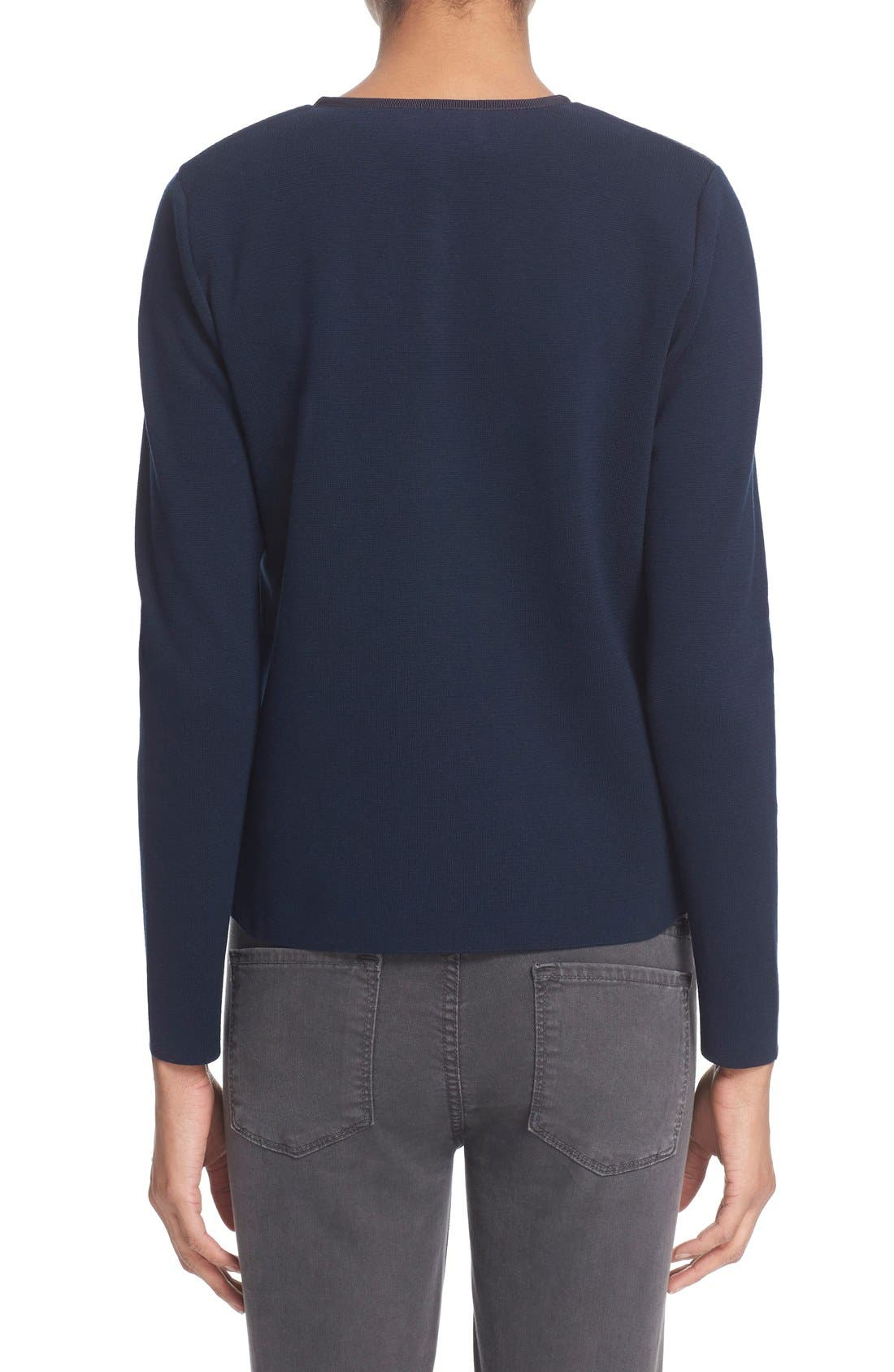 MONCLER,                             'Maglia' Quilted Down Front Tricot Cardigan,                             Alternate thumbnail 4, color,                             419