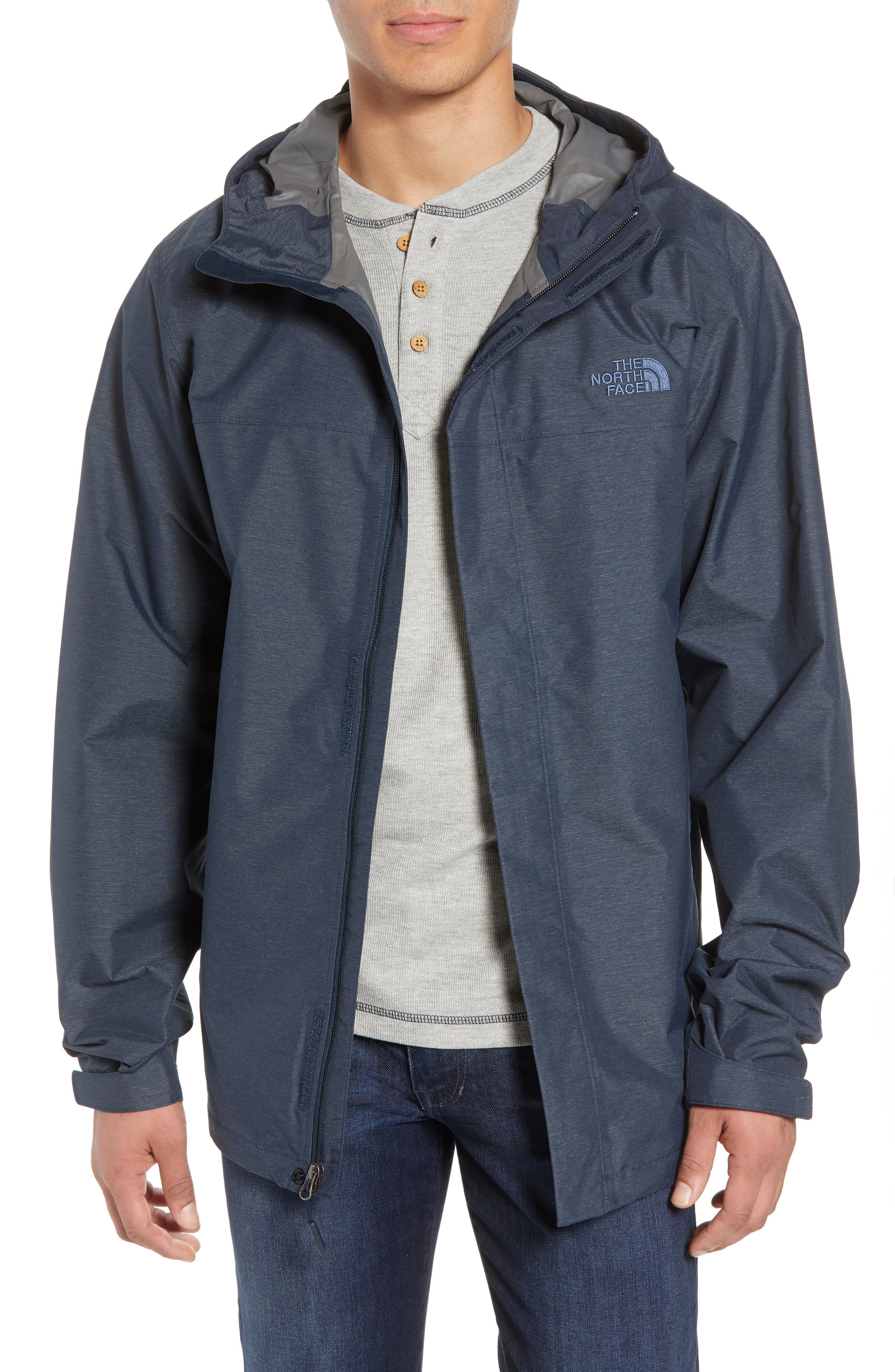 Venture 2 Waterproof Jacket,                         Main,                         color, URBAN NAVY HEATHER