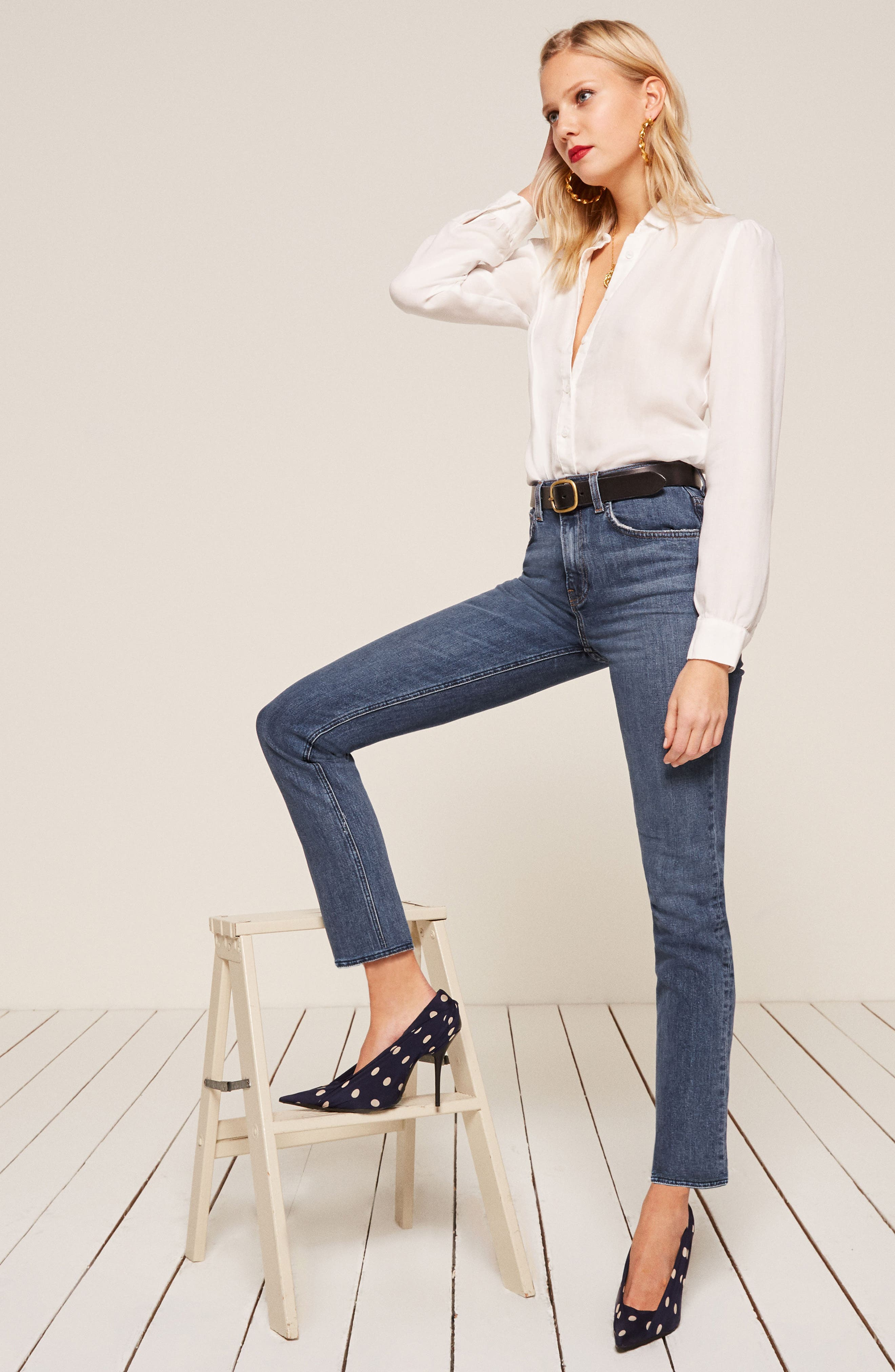 Liza High Waist Straight Leg Jeans,                             Alternate thumbnail 7, color,                             KASAI