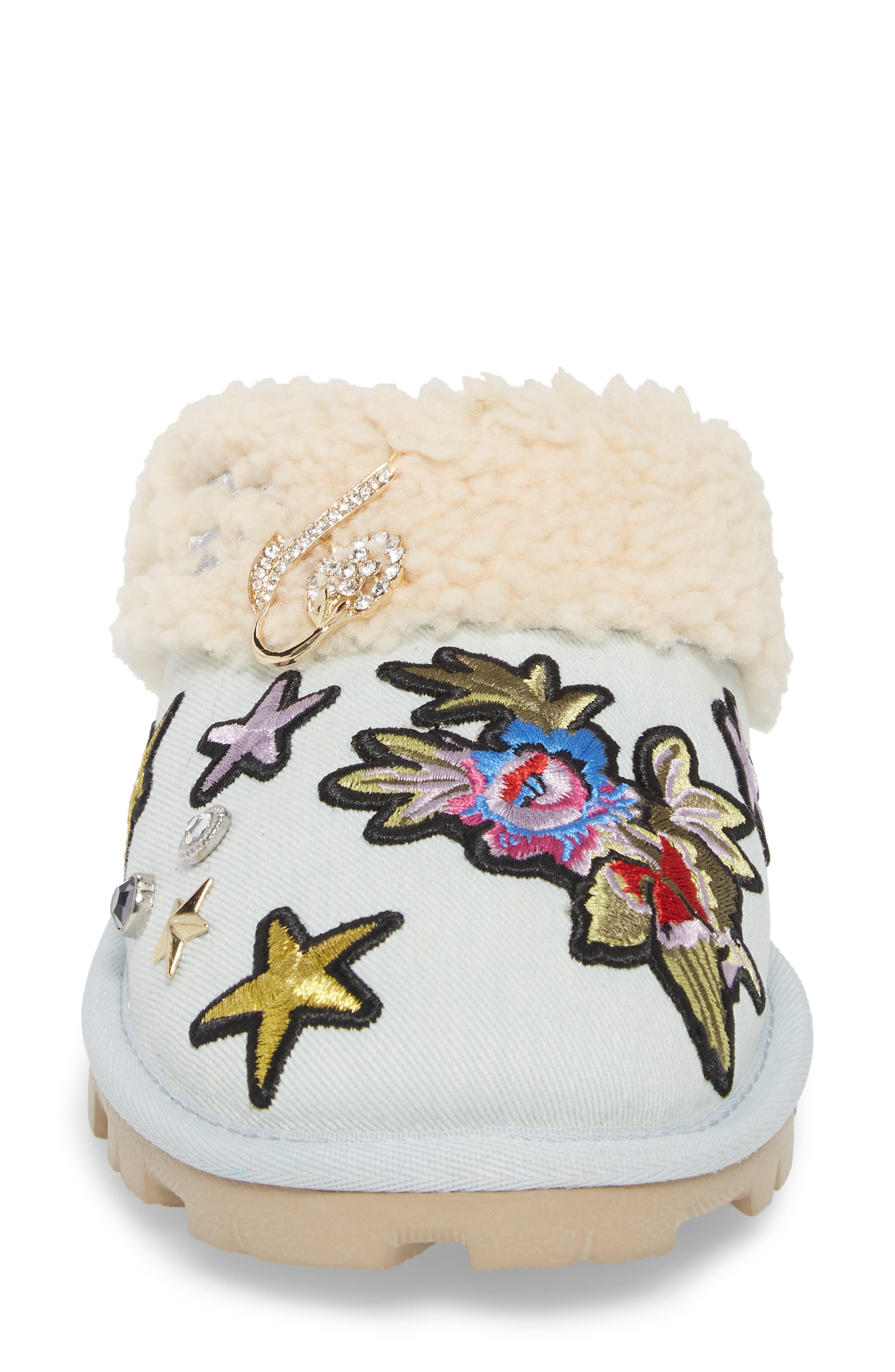 Patch It Slipper with Genuine Shearling Trim,                             Alternate thumbnail 4, color,                             452