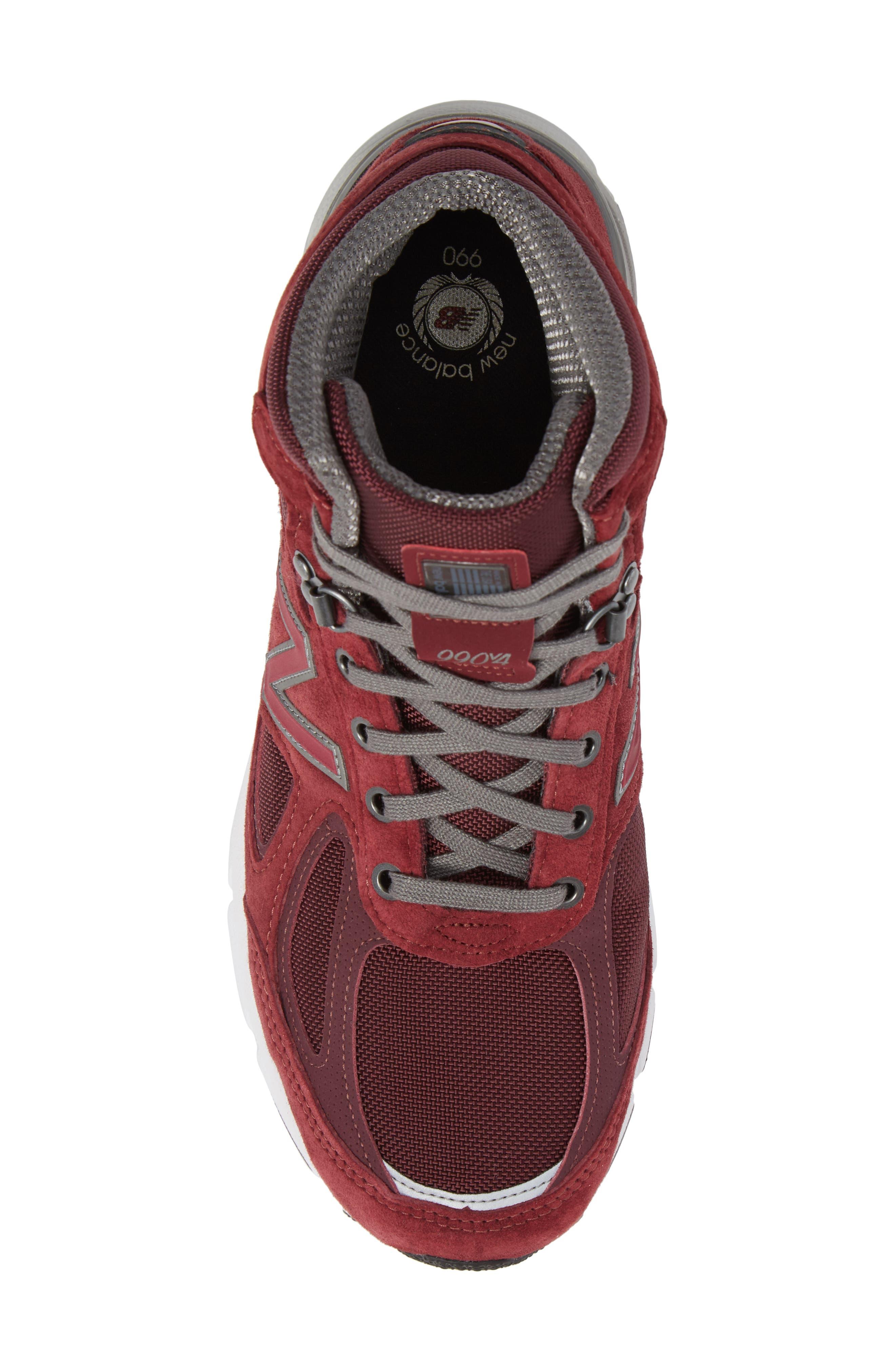 990v4 Water Resistant Sneaker Boot,                             Alternate thumbnail 5, color,                             932