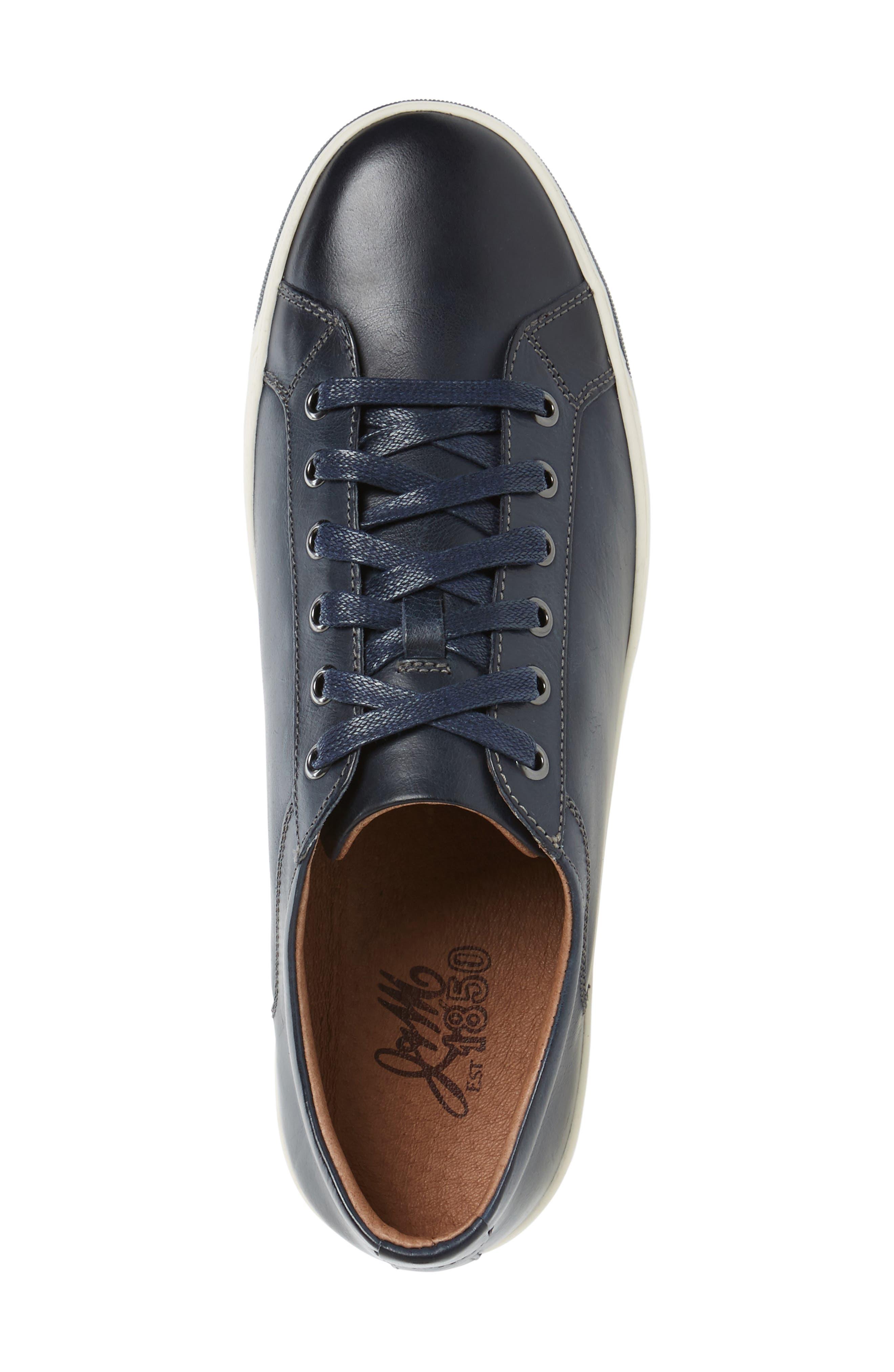 J&M 1850,                             Allister Sneaker,                             Alternate thumbnail 3, color,                             NAVY/ NAVY LEATHER