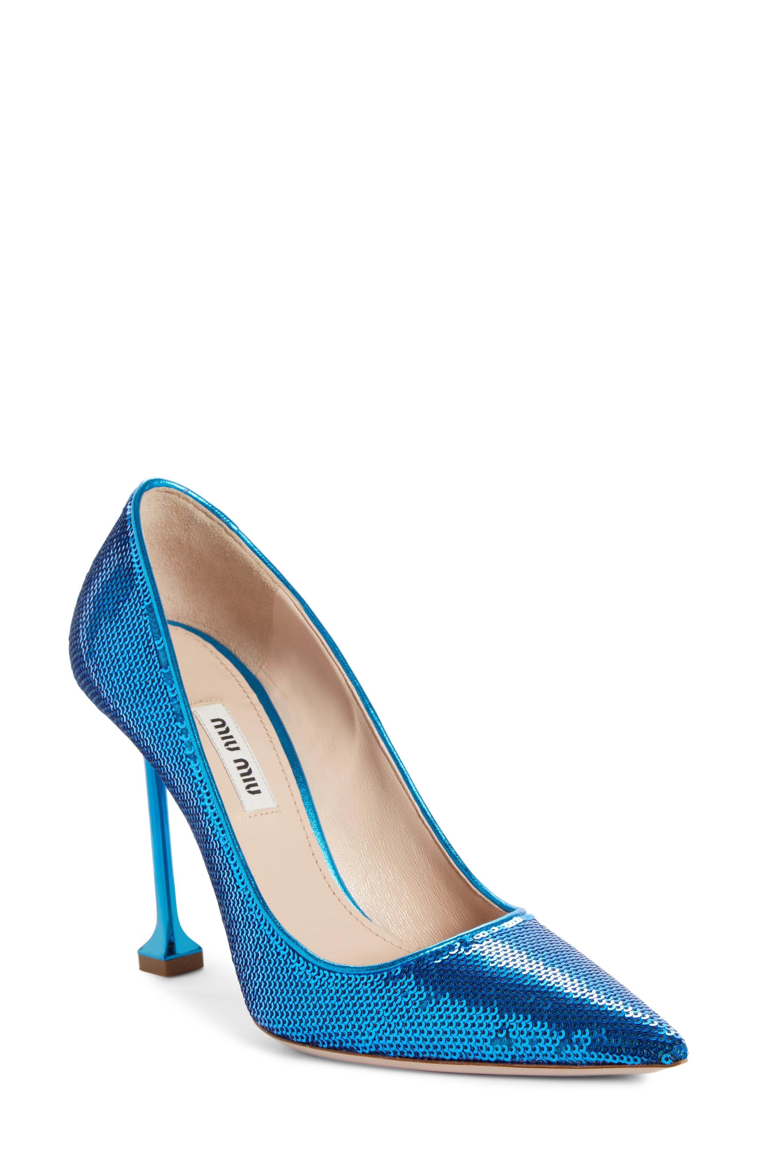 Sequin Pin Heel Pump, Main, color, MAREA BLUE