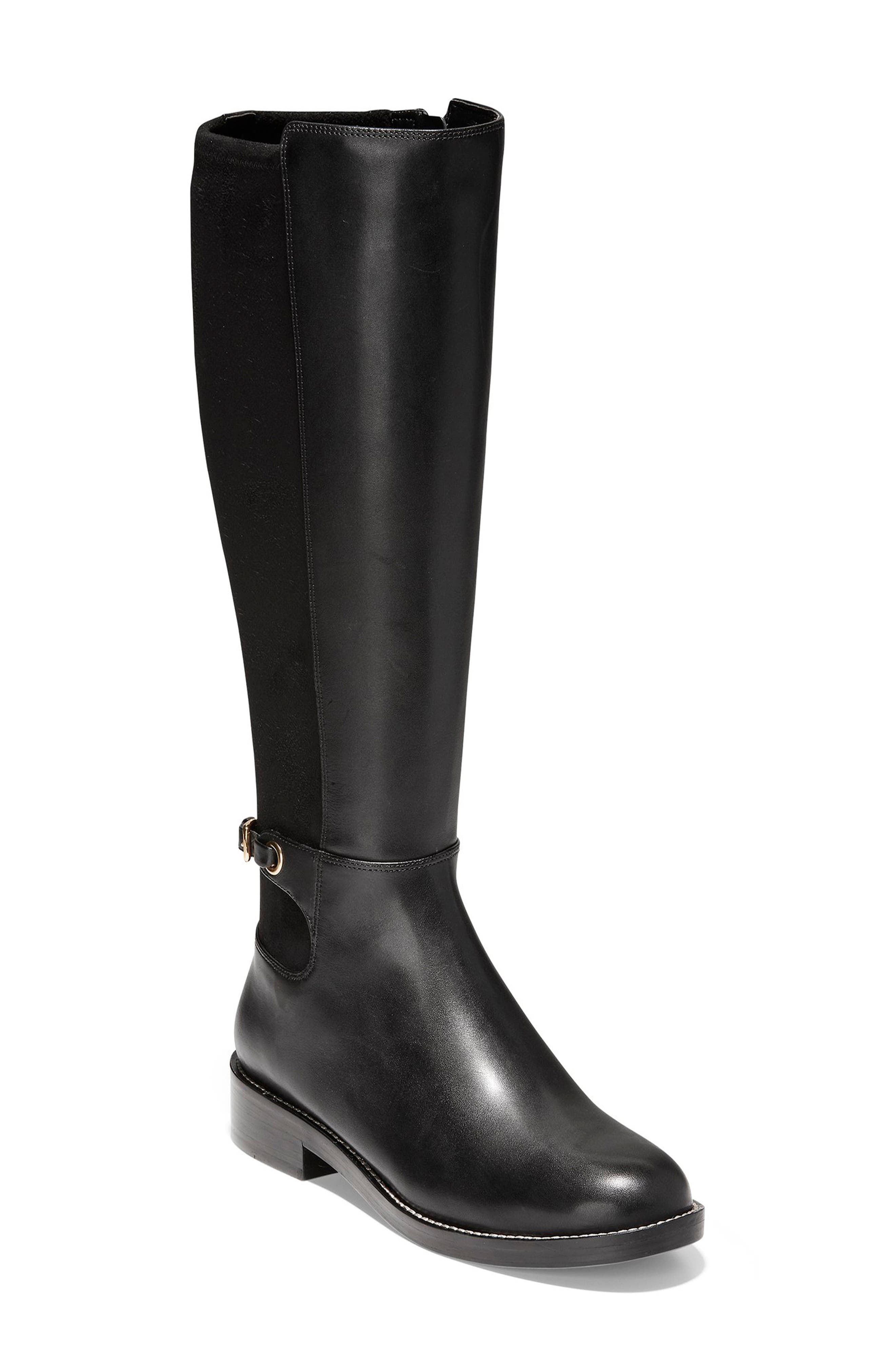 Parker Grand Stretch Knee High Boot,                             Main thumbnail 1, color,                             001
