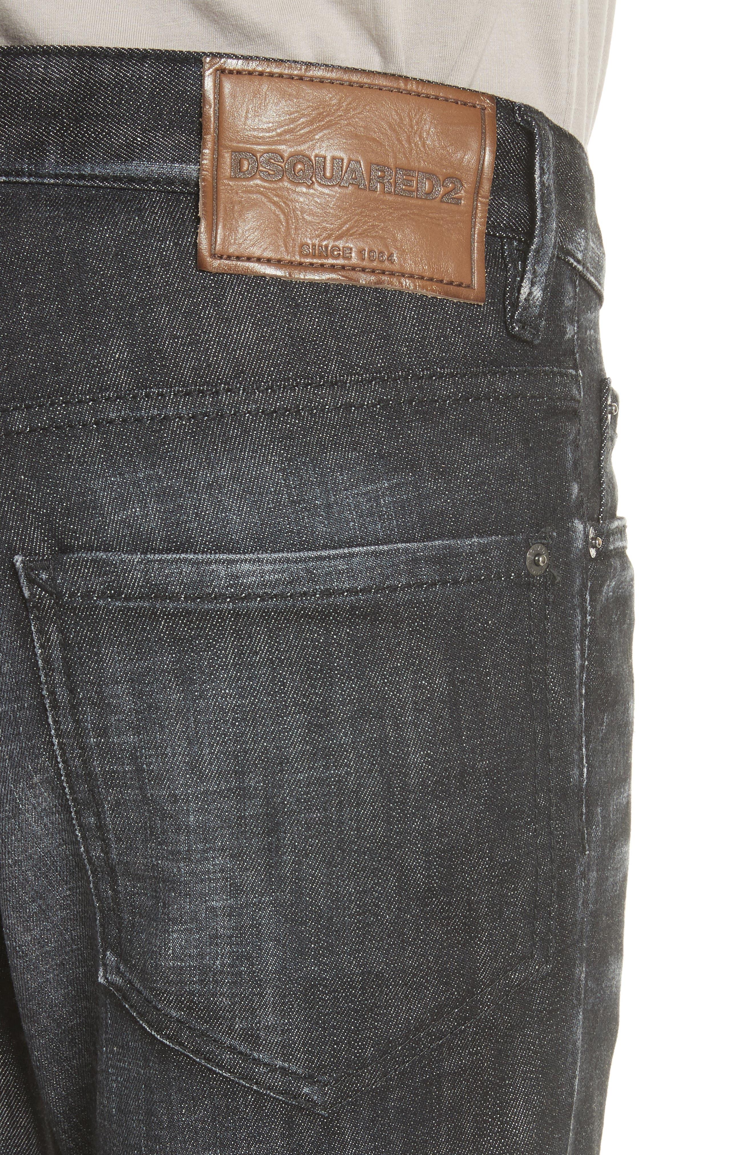 Blue Simplice City Biker Jeans,                             Alternate thumbnail 4, color,