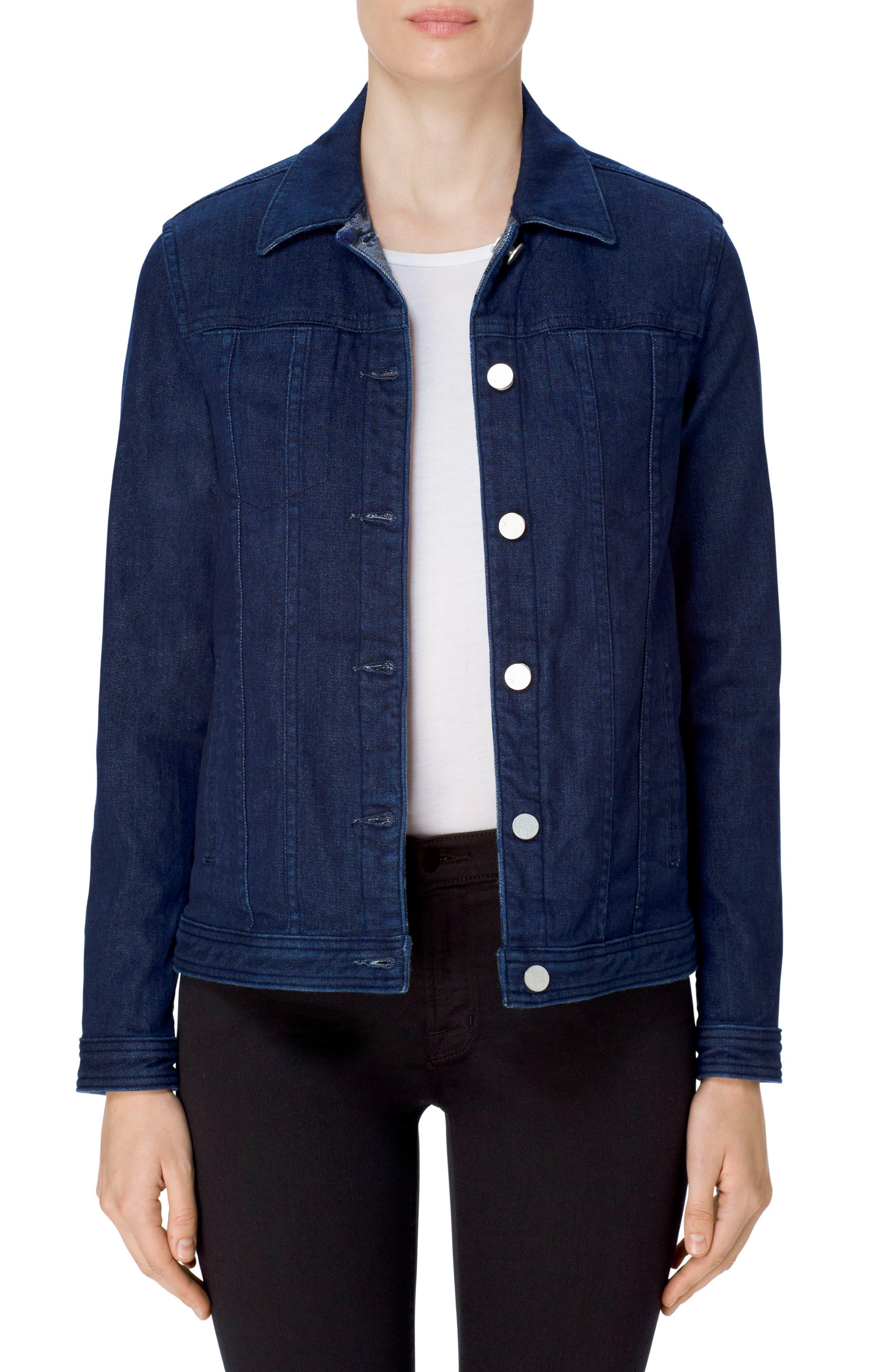 Cyra Reversible Denim Jacket,                             Main thumbnail 1, color,                             462