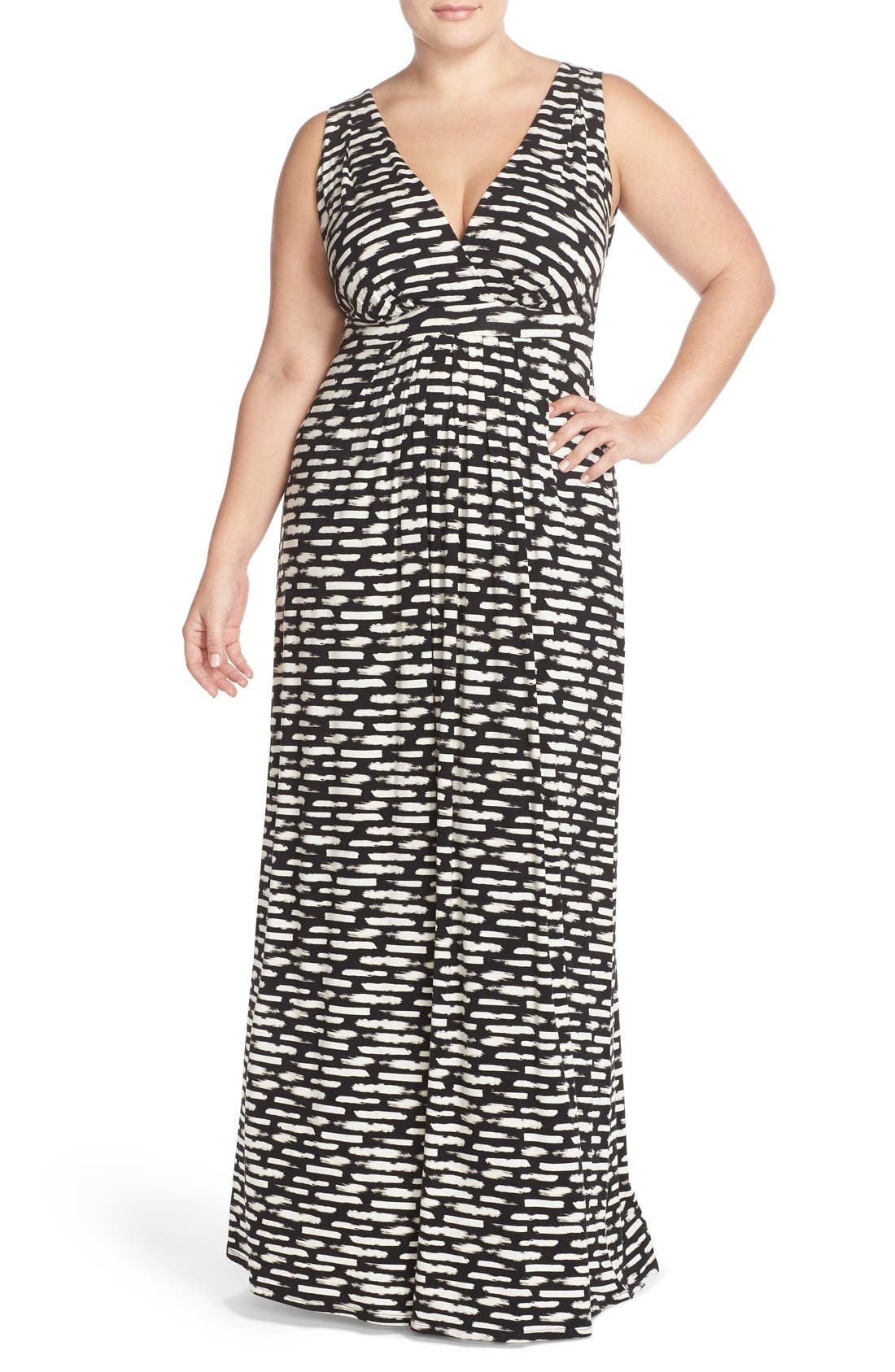 Chloe Empire Waist Maxi Dress,                             Main thumbnail 3, color,