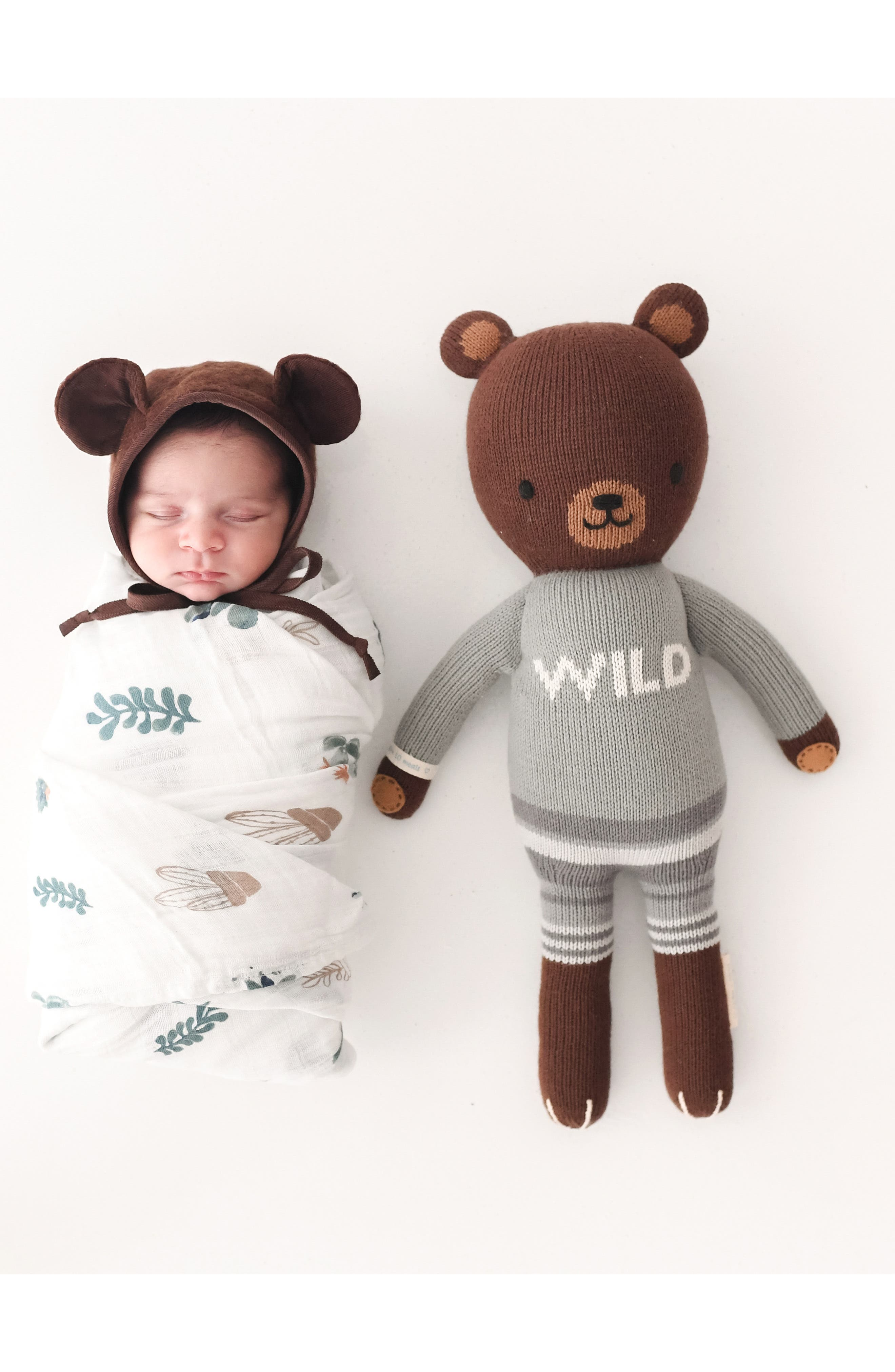 cuddle + kind Oliver the Bear Stuffed Animal,                             Alternate thumbnail 2, color,                             200