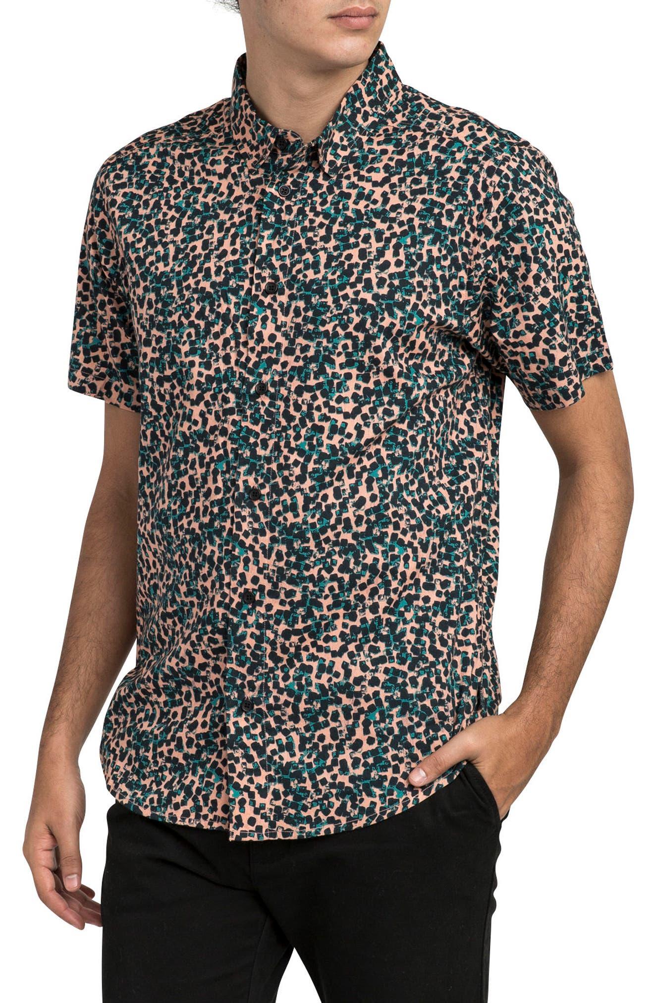 Barrow Short Sleeve Woven Shirt,                         Main,                         color, TERRACOTTA