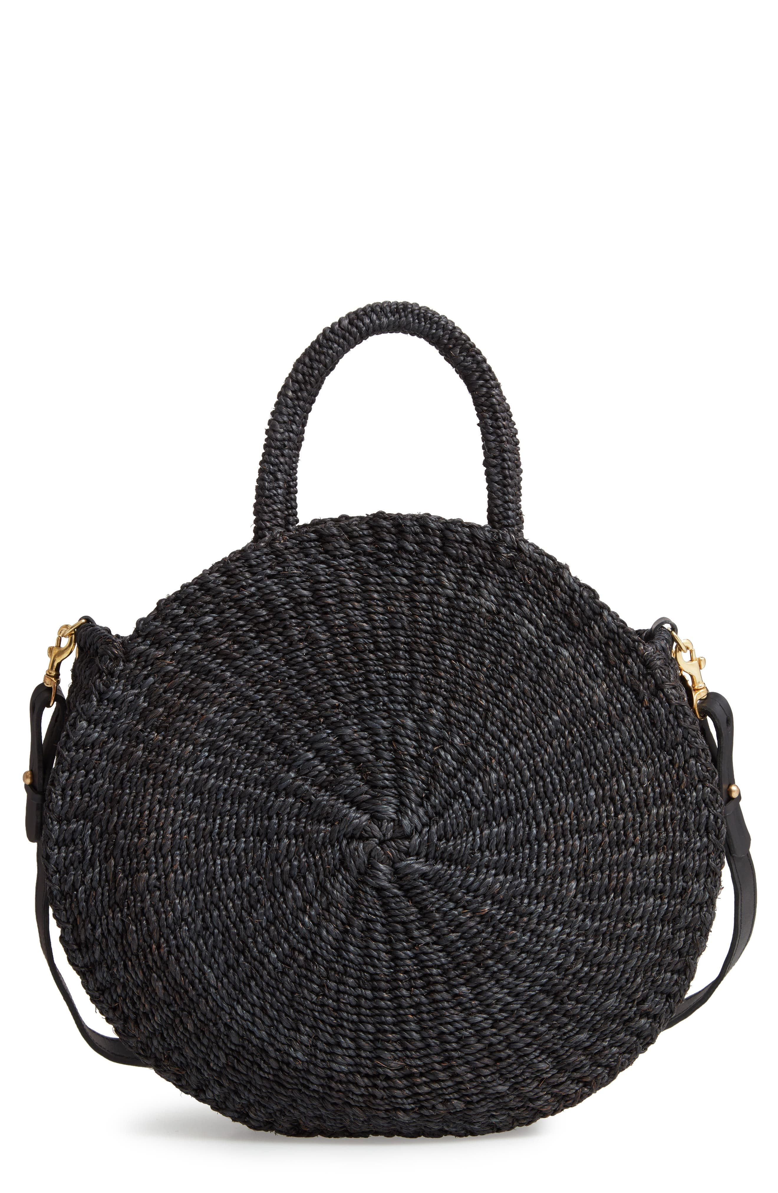Alice Woven Sisal Straw Bag,                         Main,                         color, BLACK